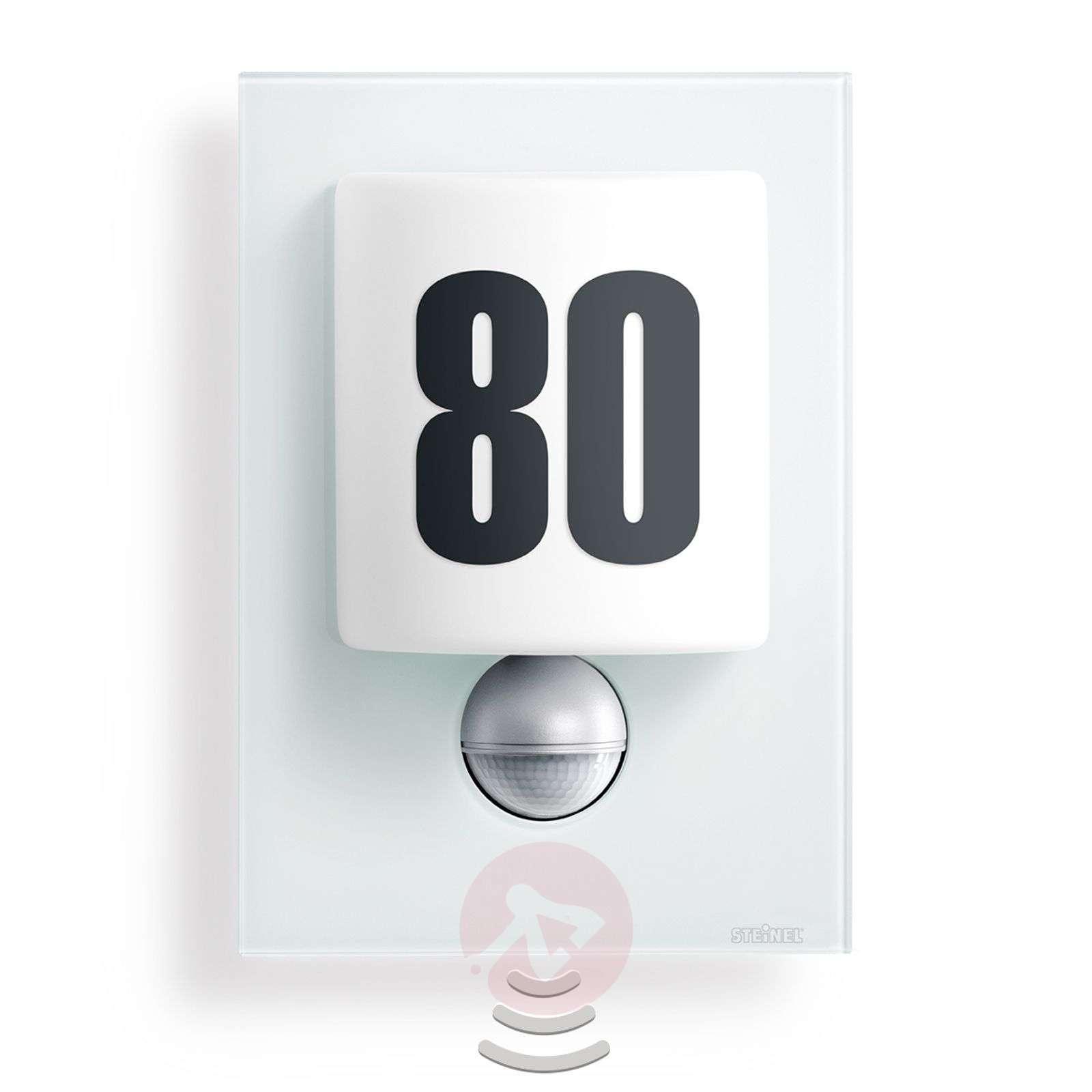 Tyylikäs LED-ulkoseinävalaisin L 680, valk. lasi-8506049-02