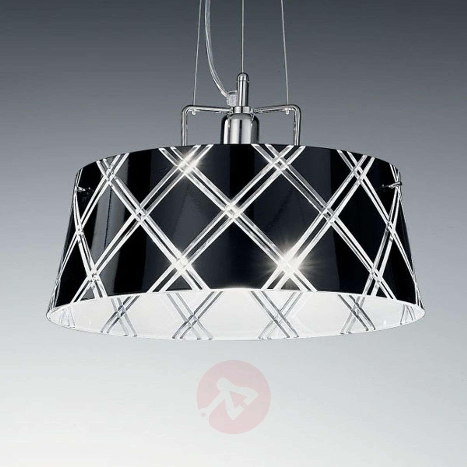 Tyylikäs riippuvalaisin CORALLO40 1lamppu, musta-6511004-01