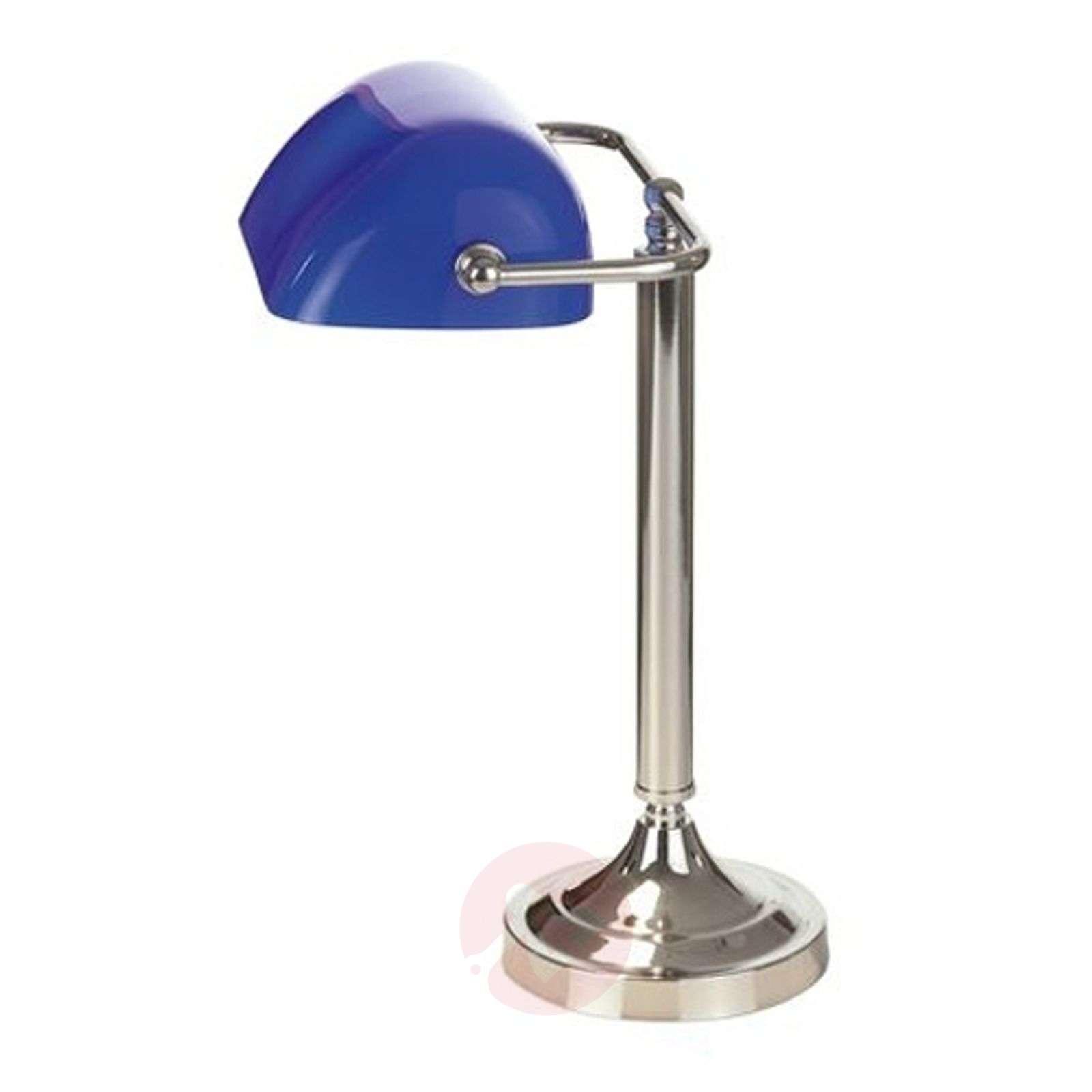 Tyypillinen pankkiirilamppu TINEKE, sininen-1032097-01