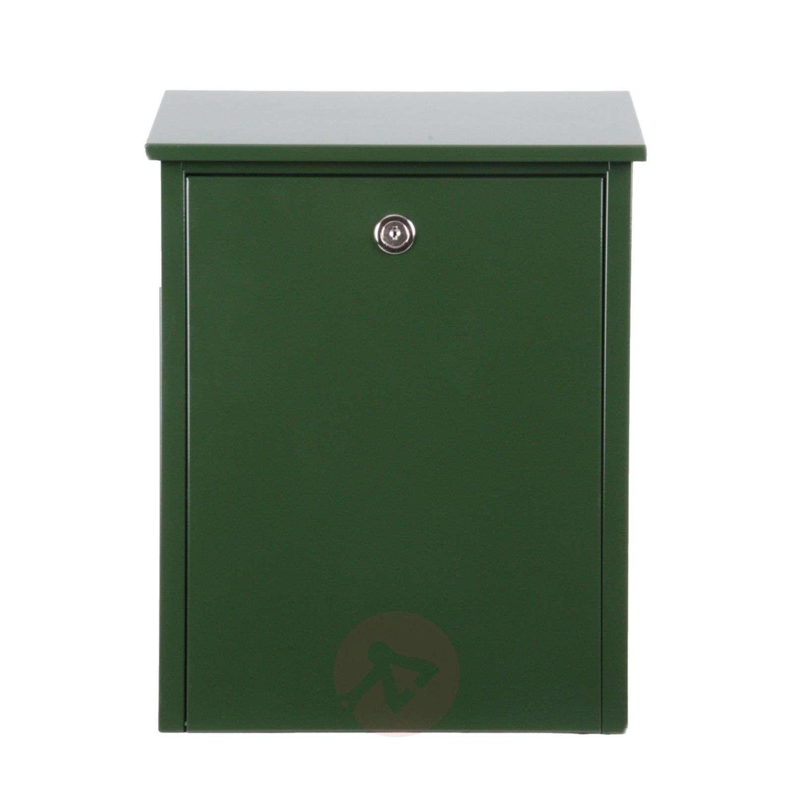 Ulkoasultaan pelkistetty teräksinen postilaatikko-1045098X-01