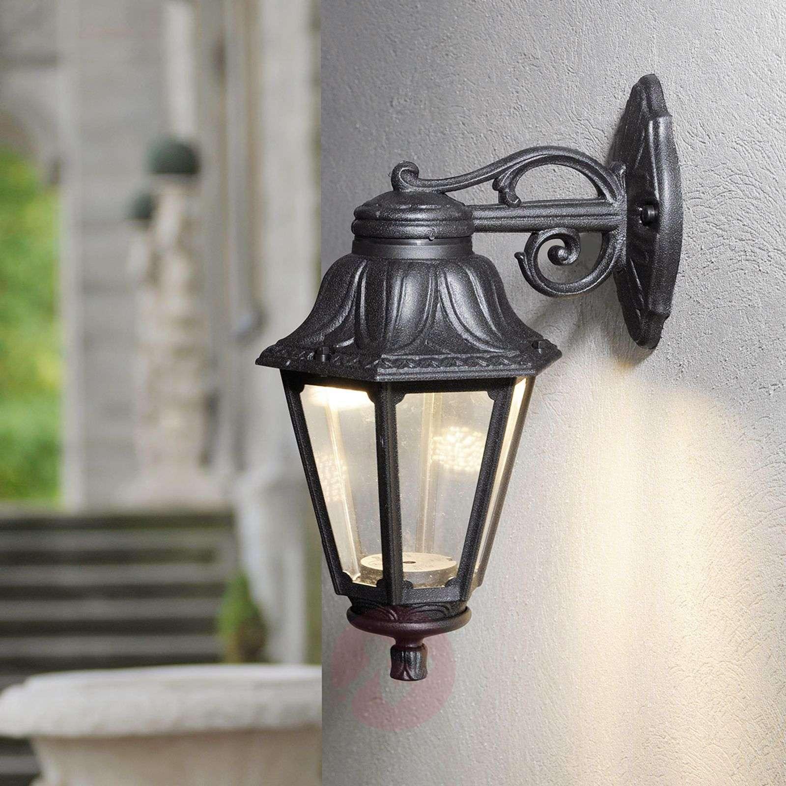 Ulkoseinävalaisin LED Bisso Anna – lyhdyt alas-3538028-03
