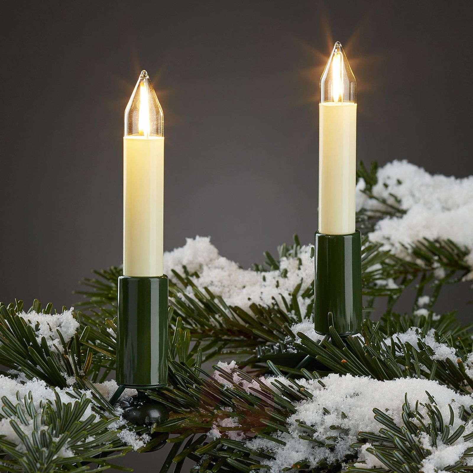 Ulkovaloketju LED-filamenttikynttilöillä 20-lampp.-4523506-01