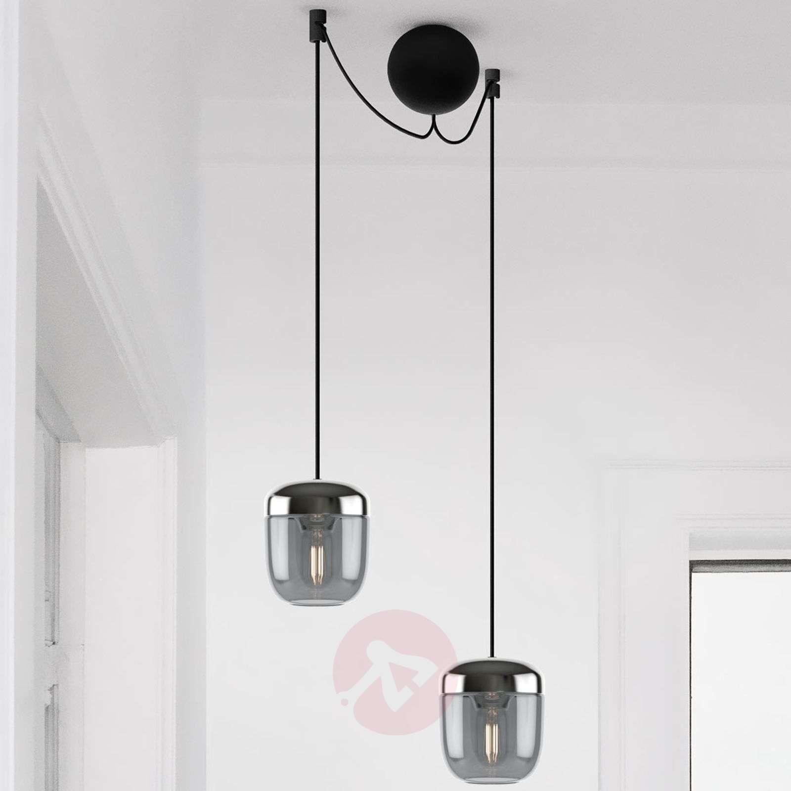 UMAGE Acorn riippuvalo 2 lamppu savunharmaa teräs-9521220-01