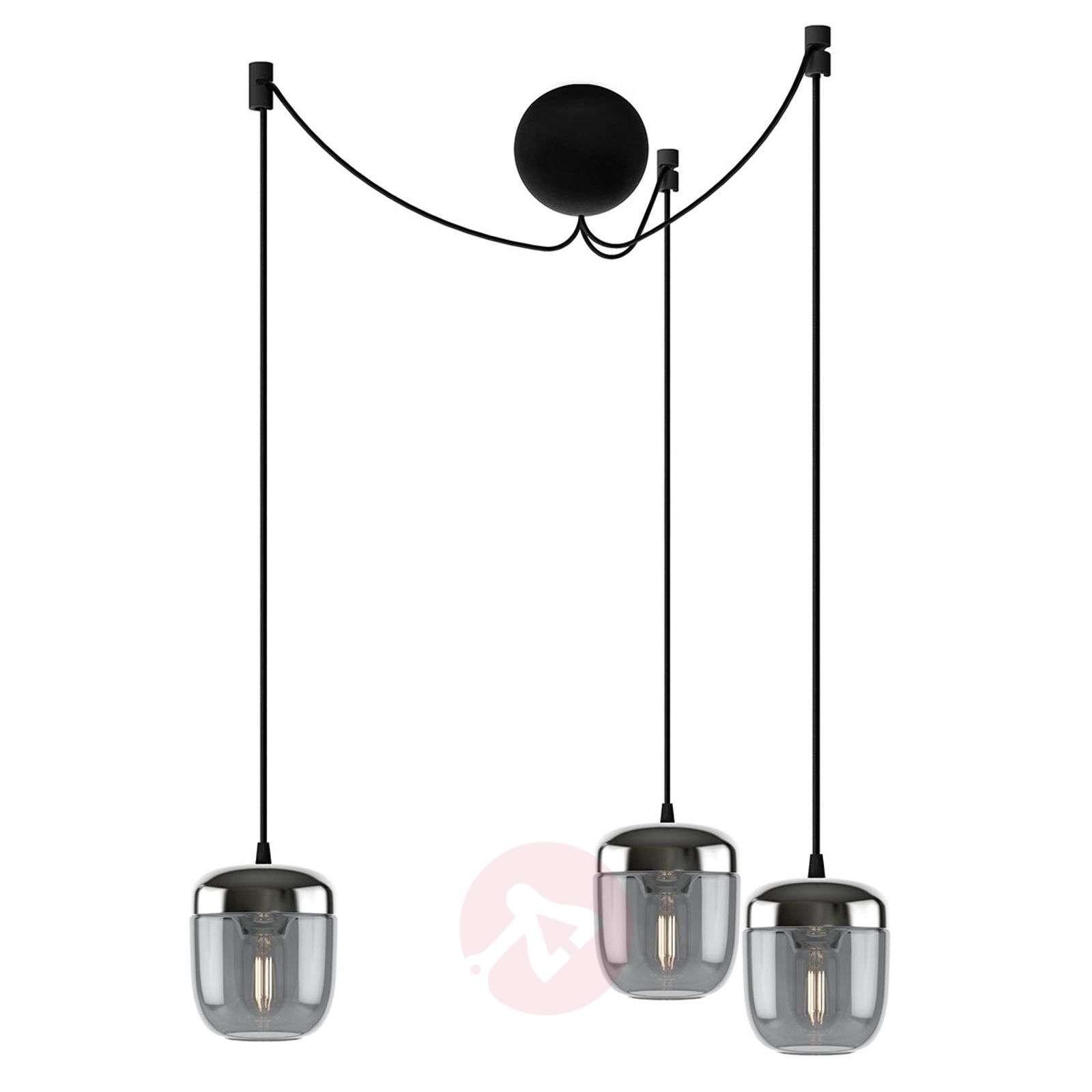 UMAGE Acorn riippuvalo 3 lamppu savunharmaa teräs-9521221-01