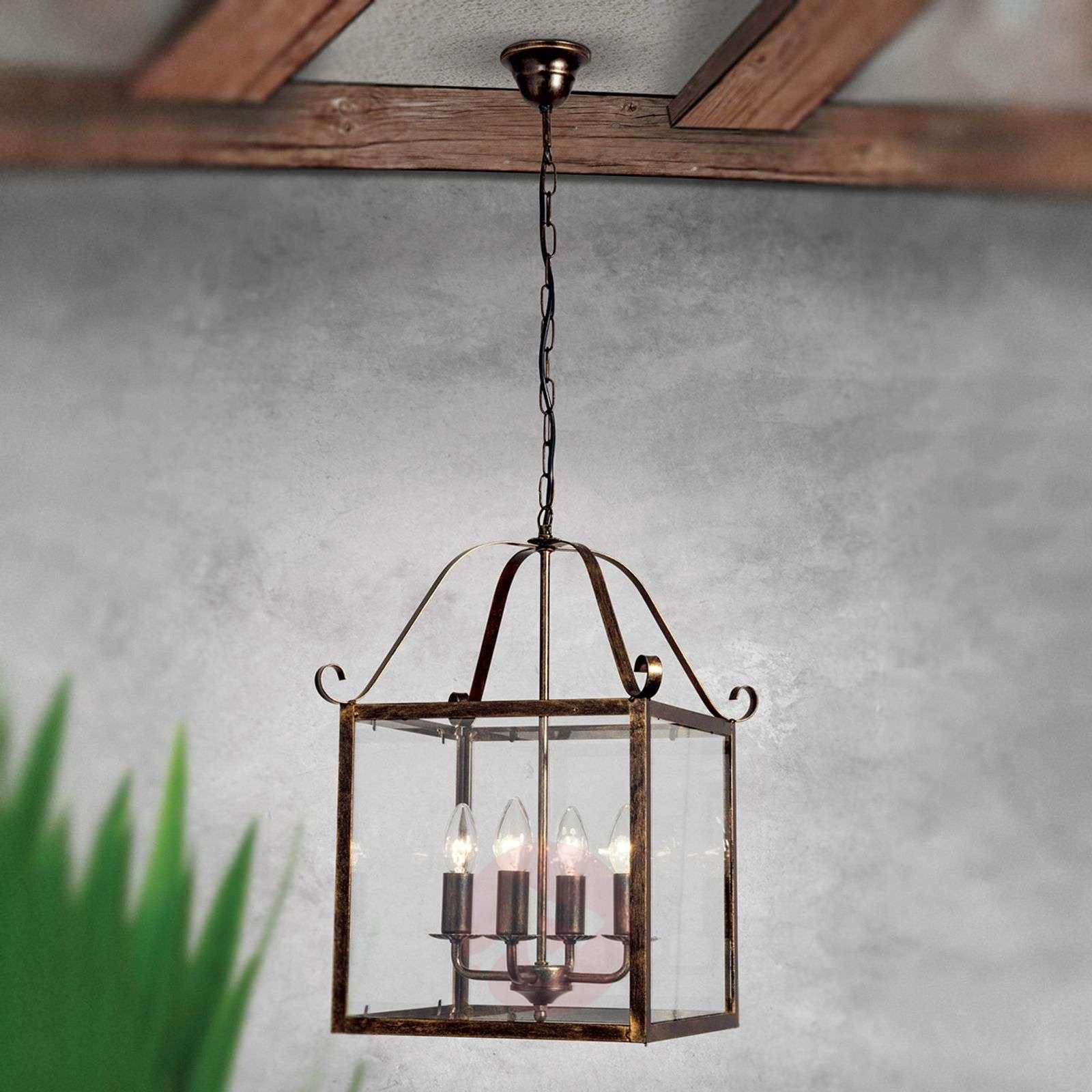 Upea FALOTTA-riippuvalaisin, kulmikas, 4-lamp.-7253853-01