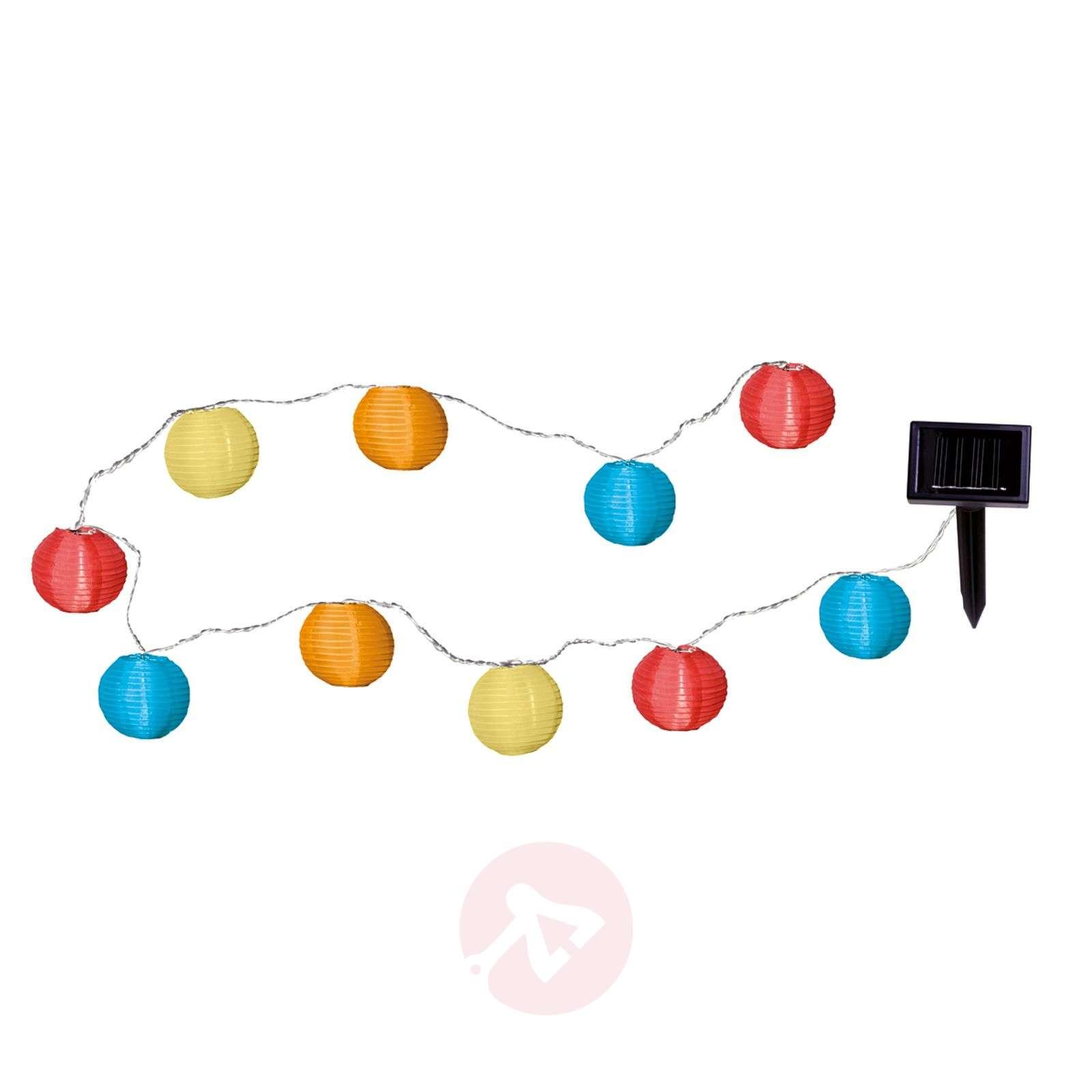 Värikäs aurinkokäyttöinen LED-valosarja, 10 palloa-1522130-01