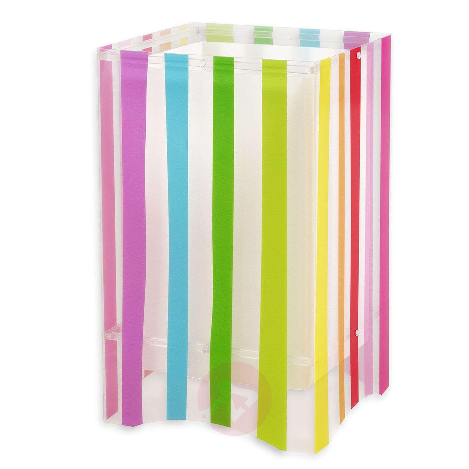 Värikäs lastenhuoneen raitapöytävalaisin Decoline-2507331-01