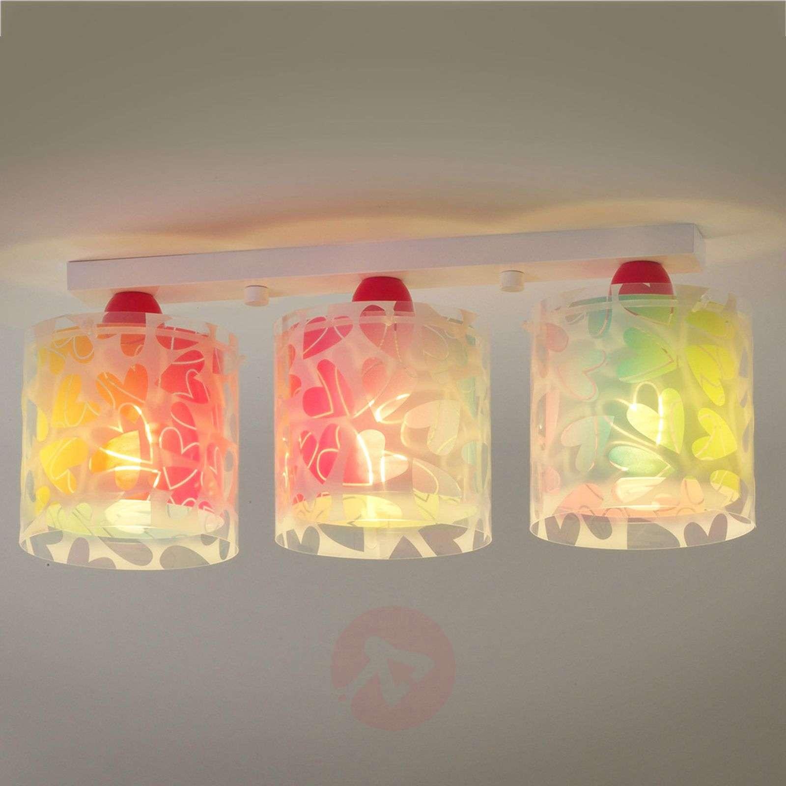 Värikäs lastenhuoneen sydänkattovalaisin Cuore-2507326-01