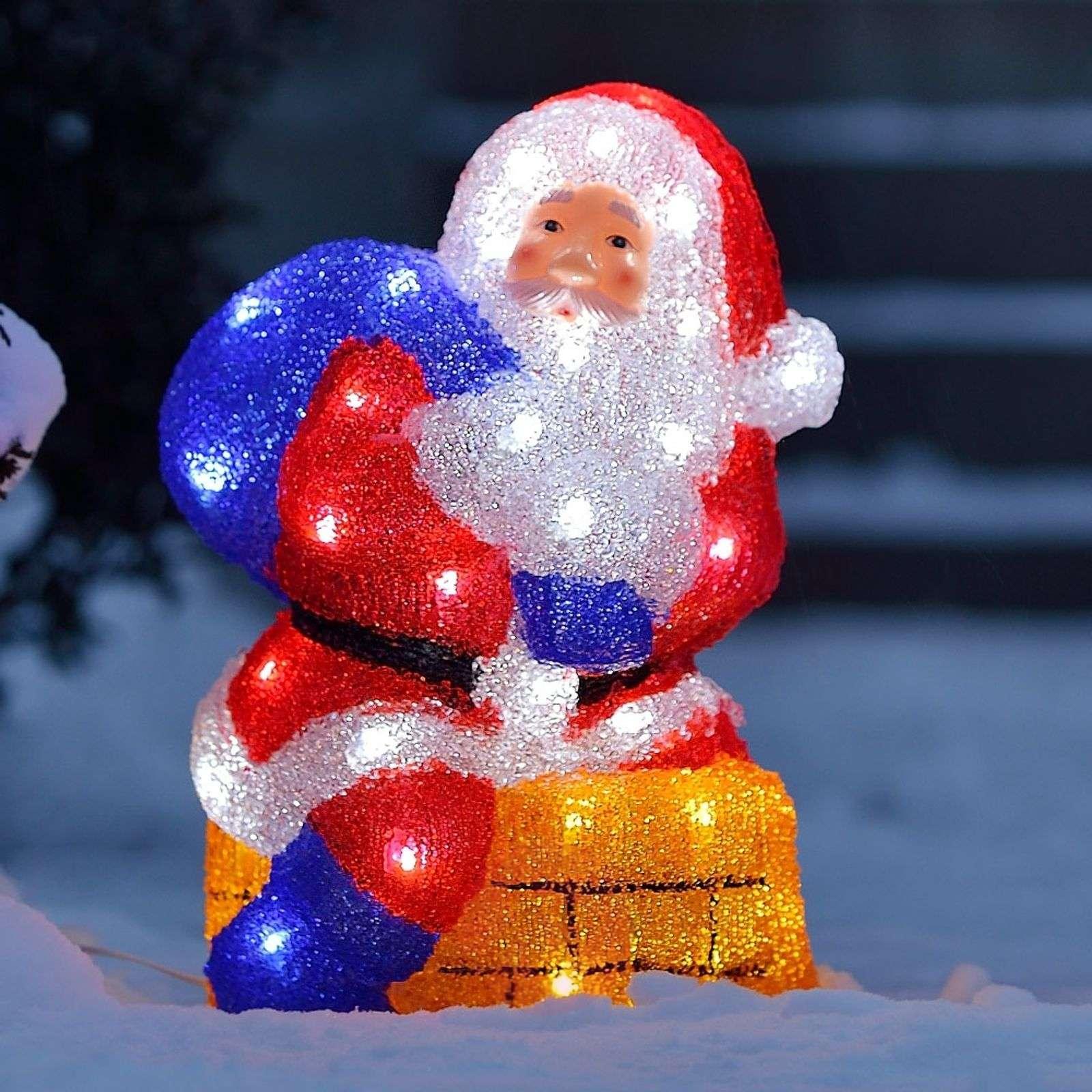 Värikäs LED-ulkokoristevalaisin joulupukki-5524378-01