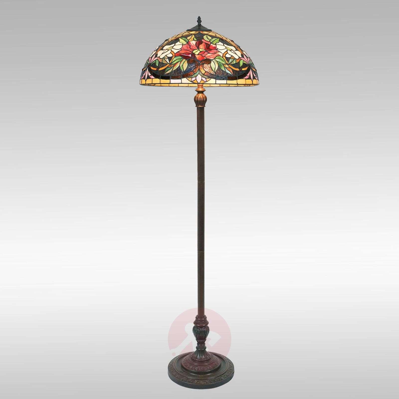 Värikäs Tiffany-tyylinen ARIADNE-lattiavalaisin-1032147-02