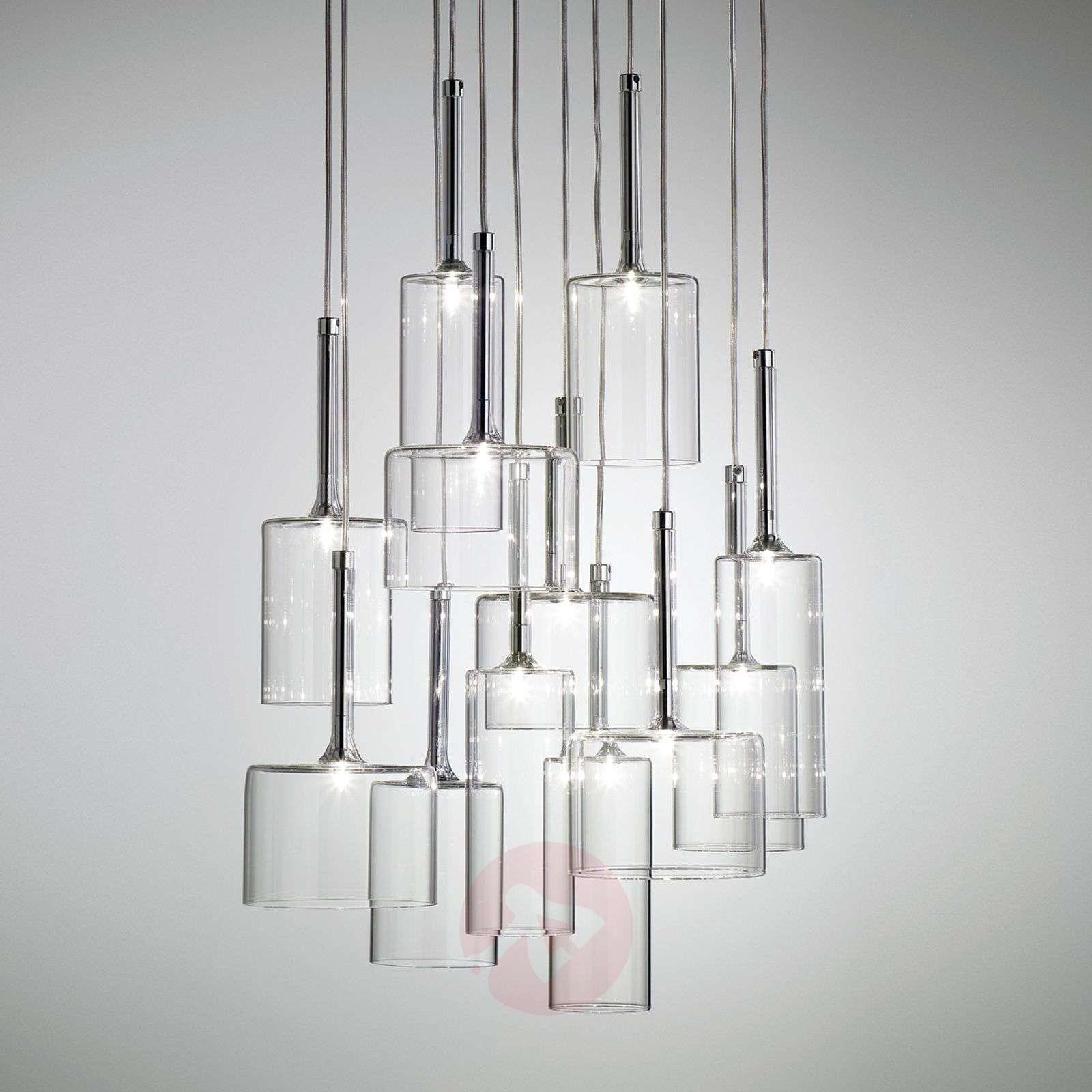 Vaikuttava 12-osainen Spillray-lasiriippuvalaisin-1088089-01