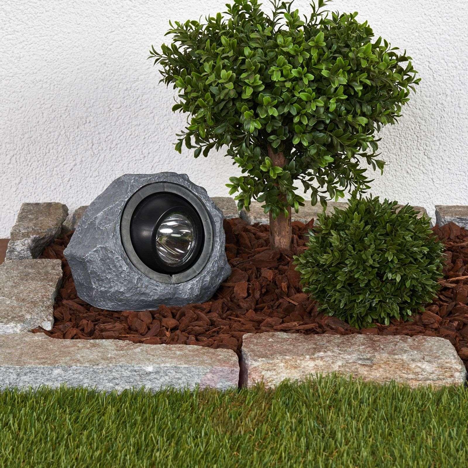 Valaiseva aurinkokäyttöinen kivi Lior LEDillä-4018067-04