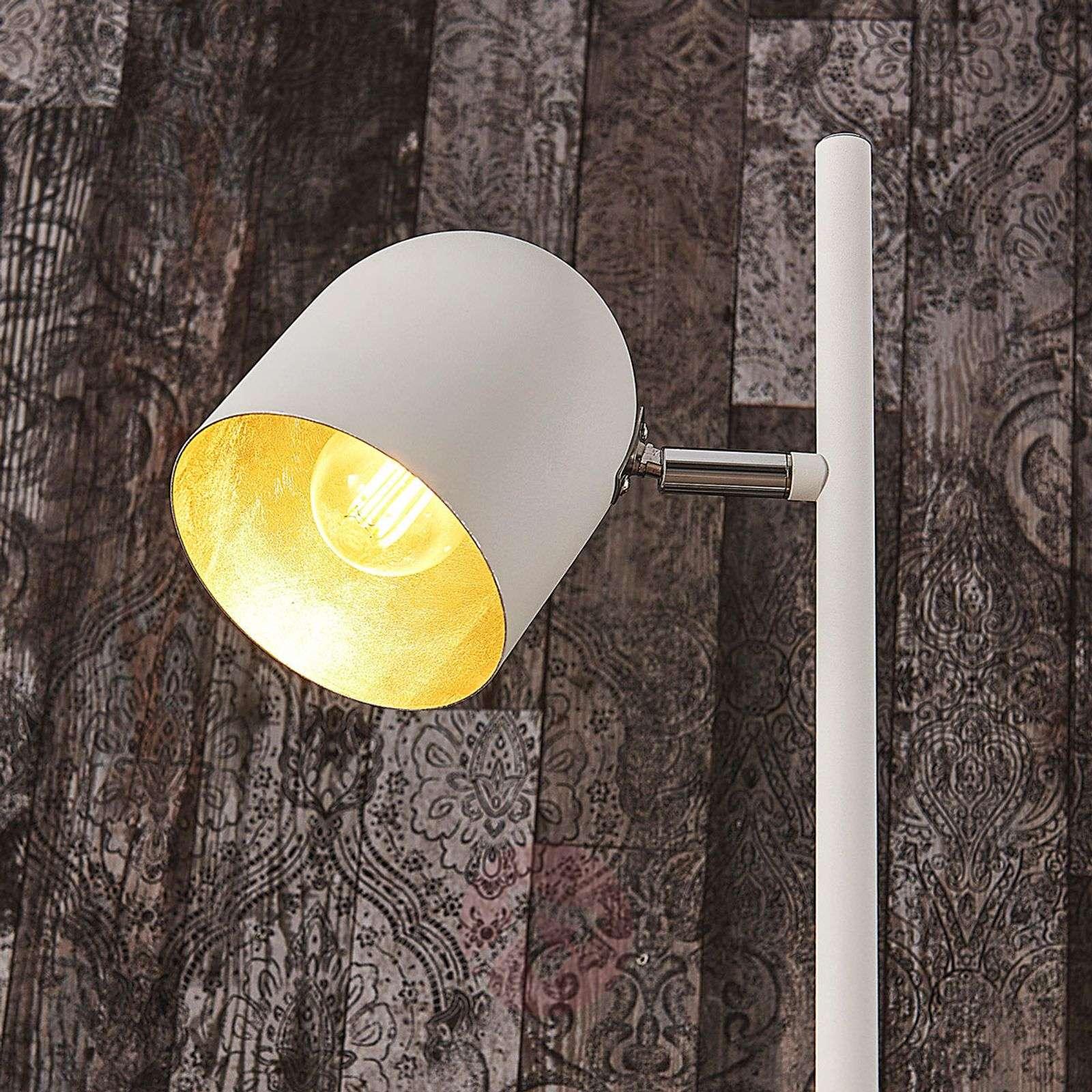 Valk. ja hopeinen lattiavalaisin Morik, 2lamppua-9624163-02