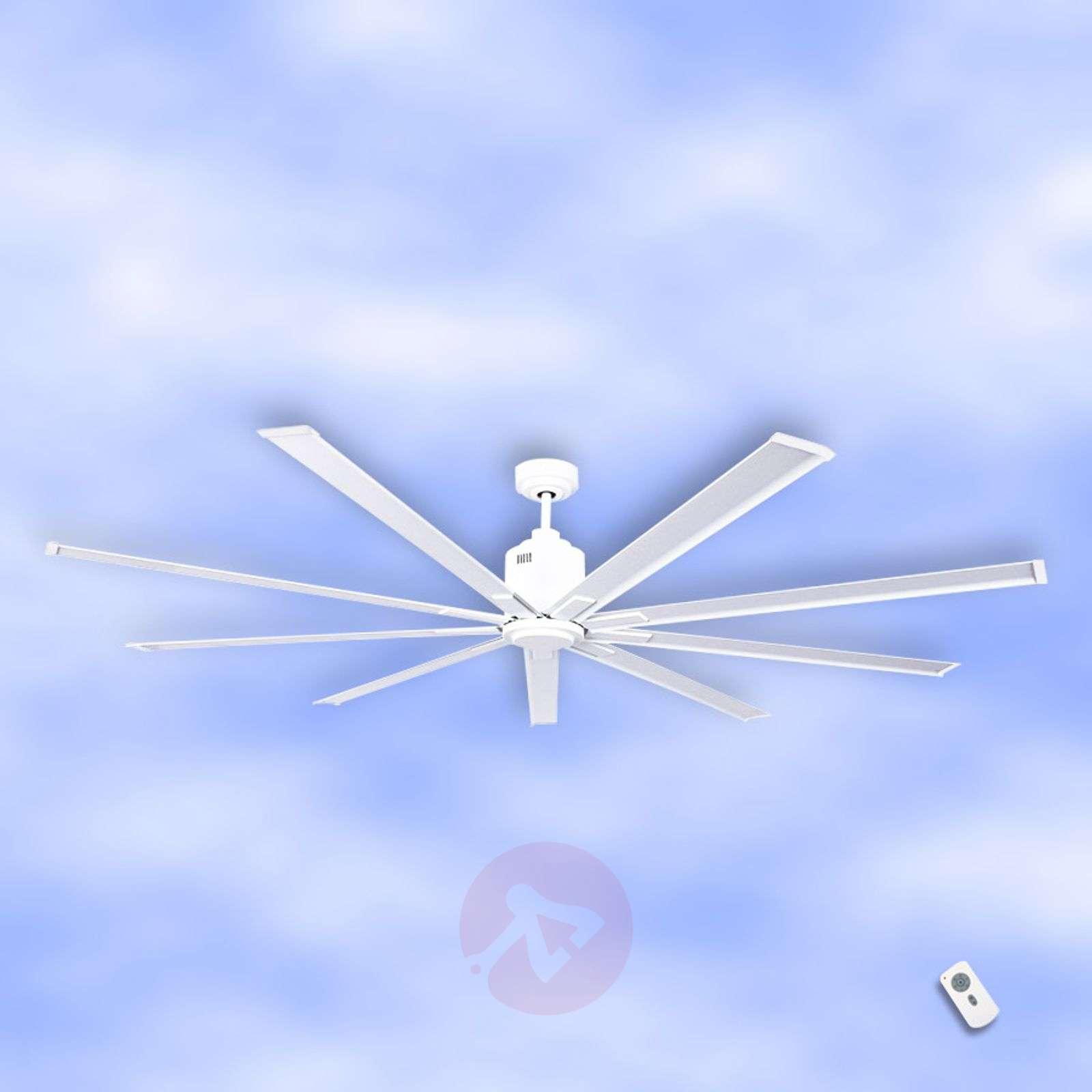 Valkoinen Big Smooth Eco-kattotuuletin, 220 cm-2015070-01