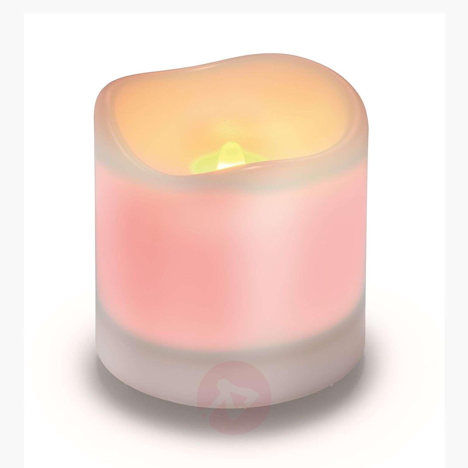 Valkoinen Candle Light-LED-kynttilä aurinkokenno-3012228-01
