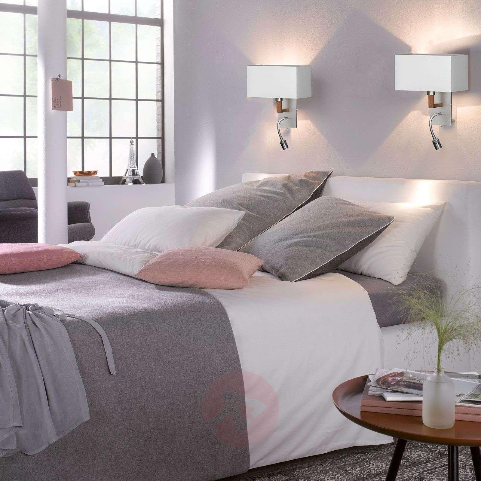 Valkoinen Casta-tekstiiliseinävalaisin lukuvalolla-4581036-01