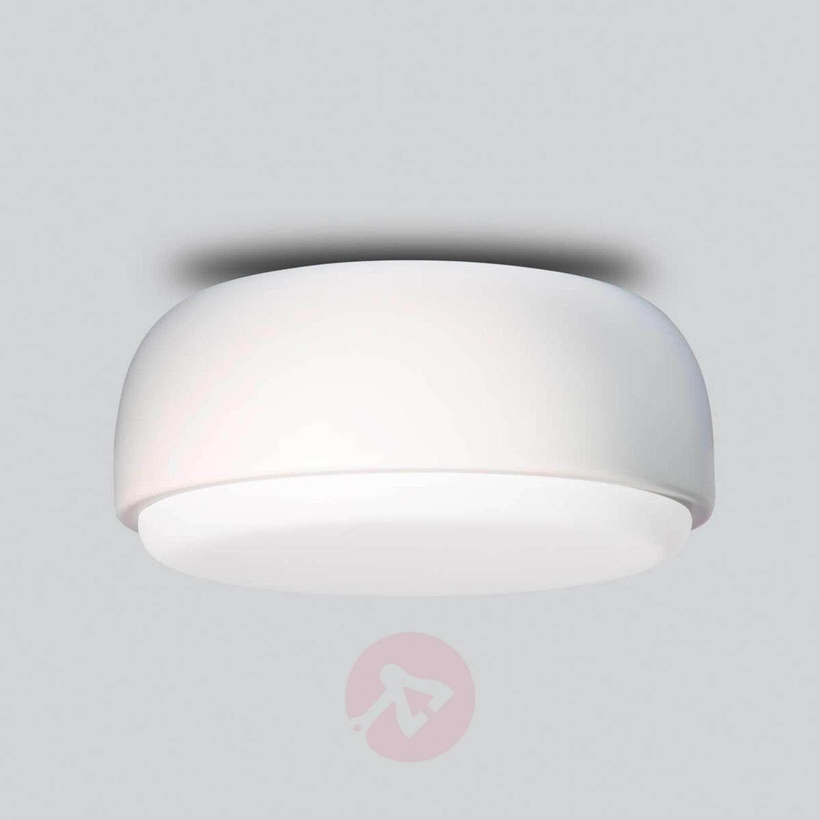 Valkoinen design-kattovalaisin Over Me, 30cm-7013091-01