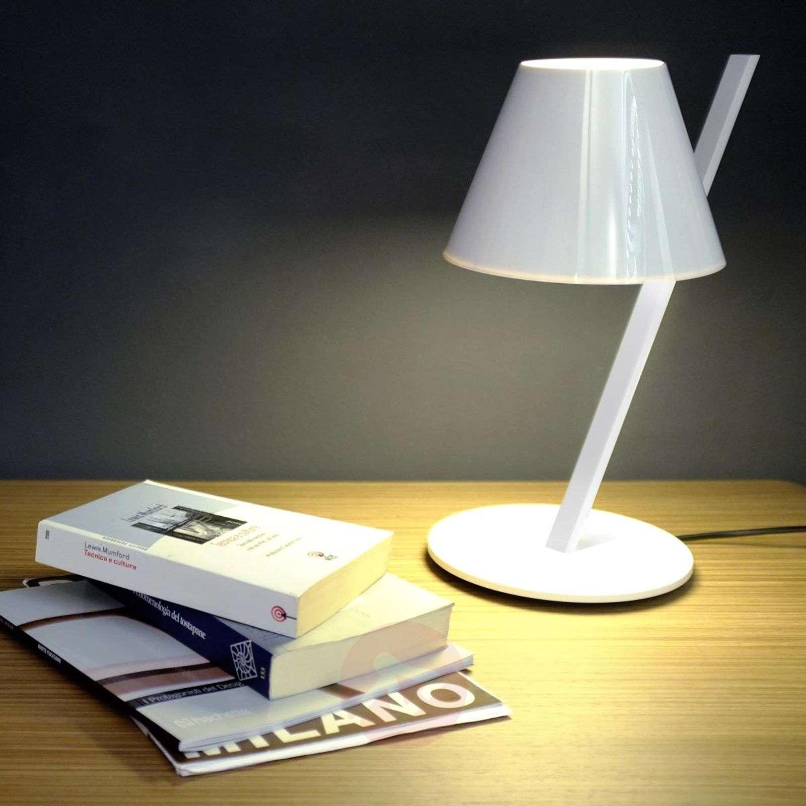 Valkoinen design-pöytävalaisin La Petite-1060043-01