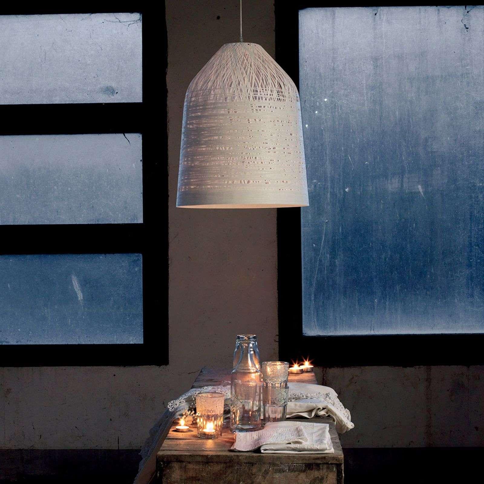 Valkoinen design-riippuvalaisin Black Out-5542020X-01