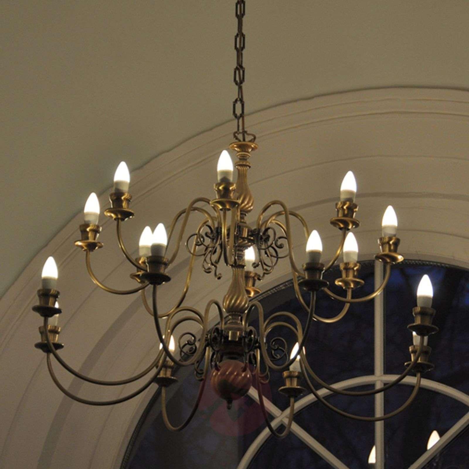 Valkoinen E14 5W 927 LED-kynttilä, himmennettävä-6037076-01