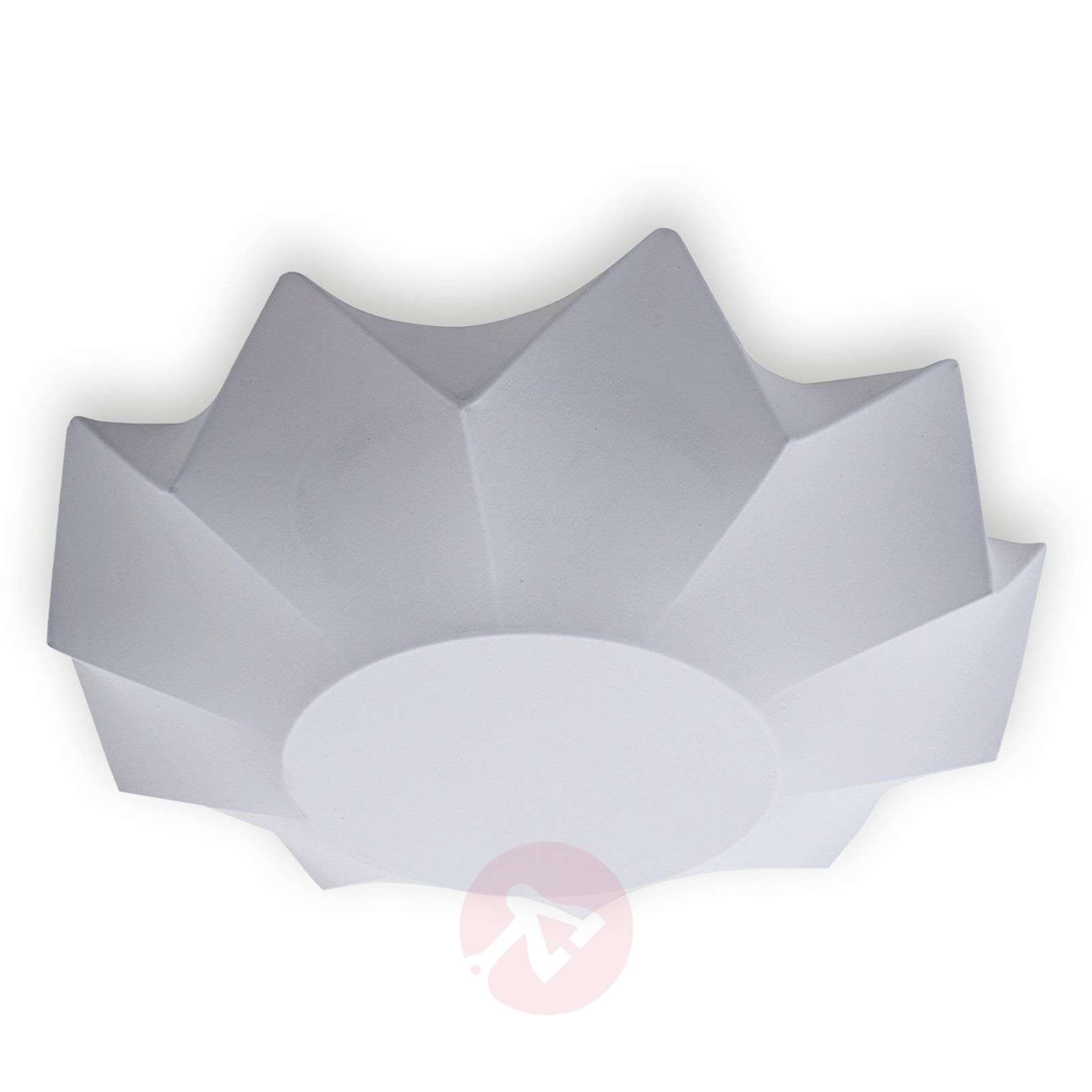 Valkoinen kankainen Art-kattovalaisin 60 cm-1069006-01