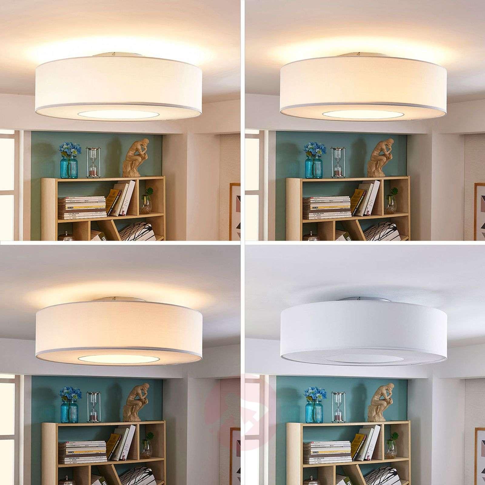 Valkoinen LED-kangaskattolamppu Ragnar, 4 osaa-9621258-01