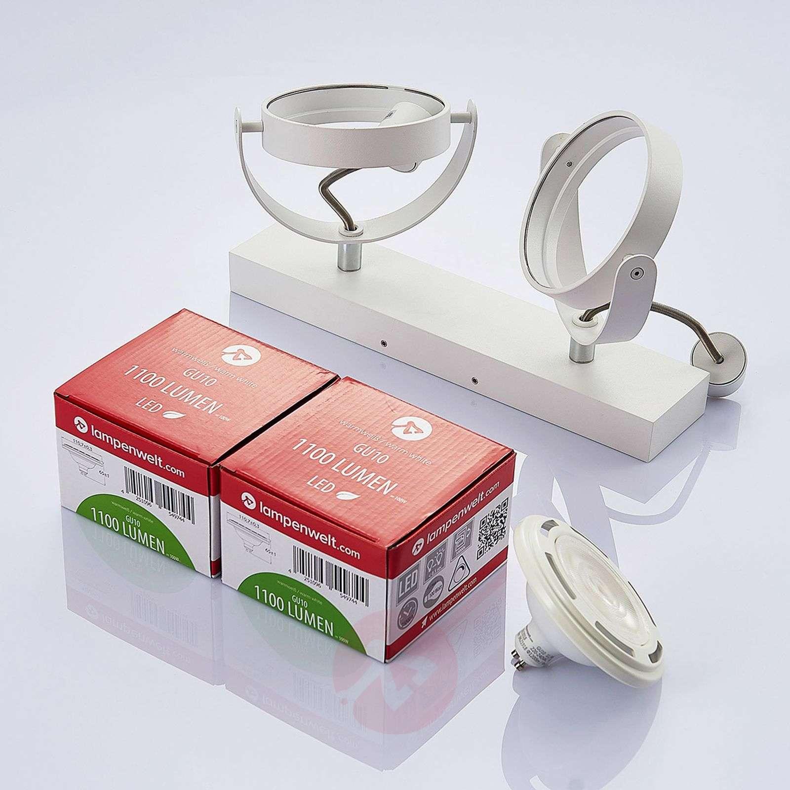Valkoinen LED-kattovalaisin Munin, GU10 himm.-9621879-02