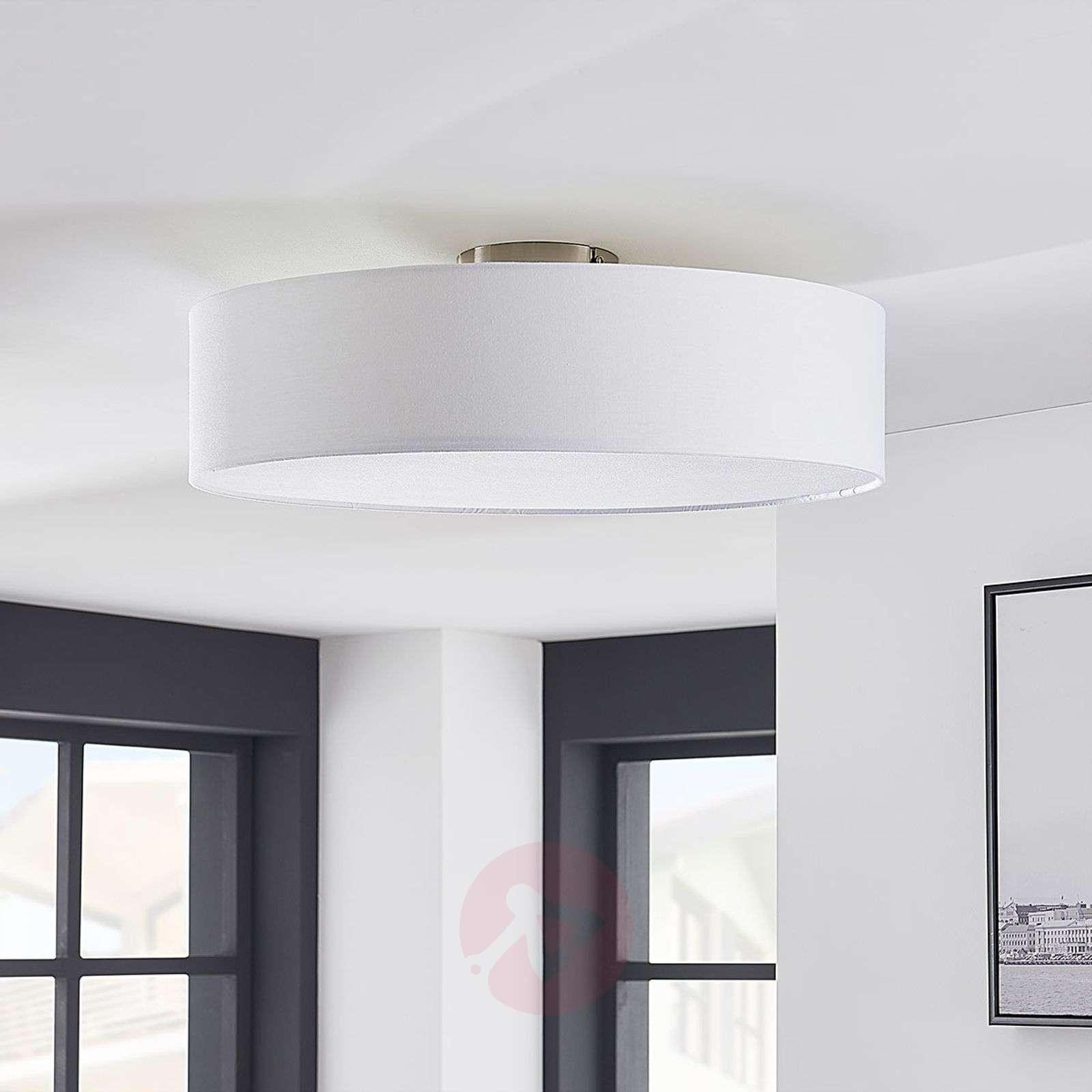 Valkoinen LED-kattovalaisin Sebatin, kangasta-9620329-02