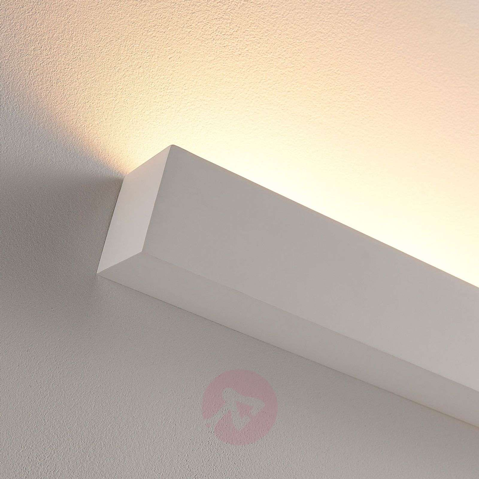 Valkoinen LED-kipsiseinävalaisin Santino, kulmikas-9621335-02