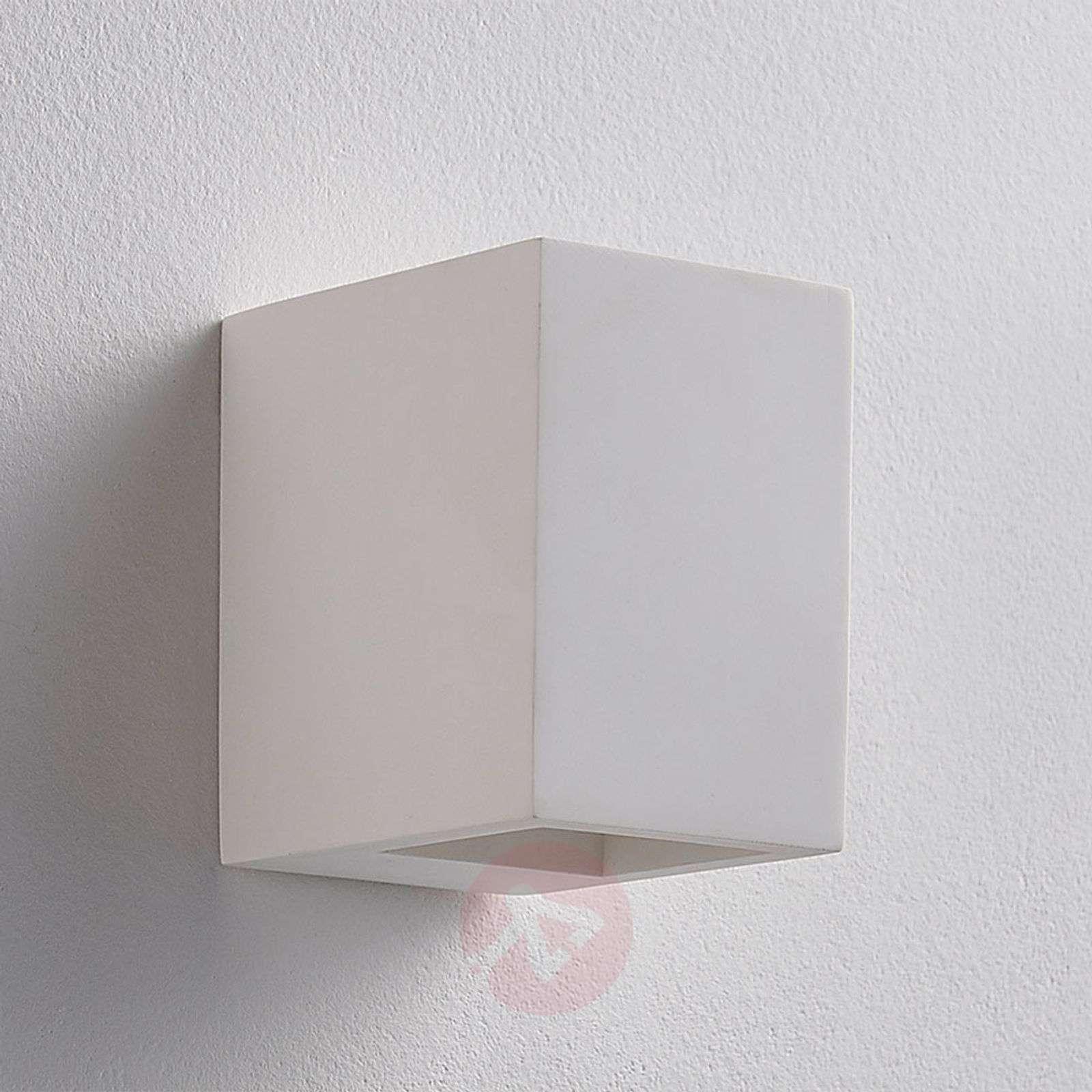 Valkoinen LED-seinävalaisin Jannes, kipsiä-9621339-02