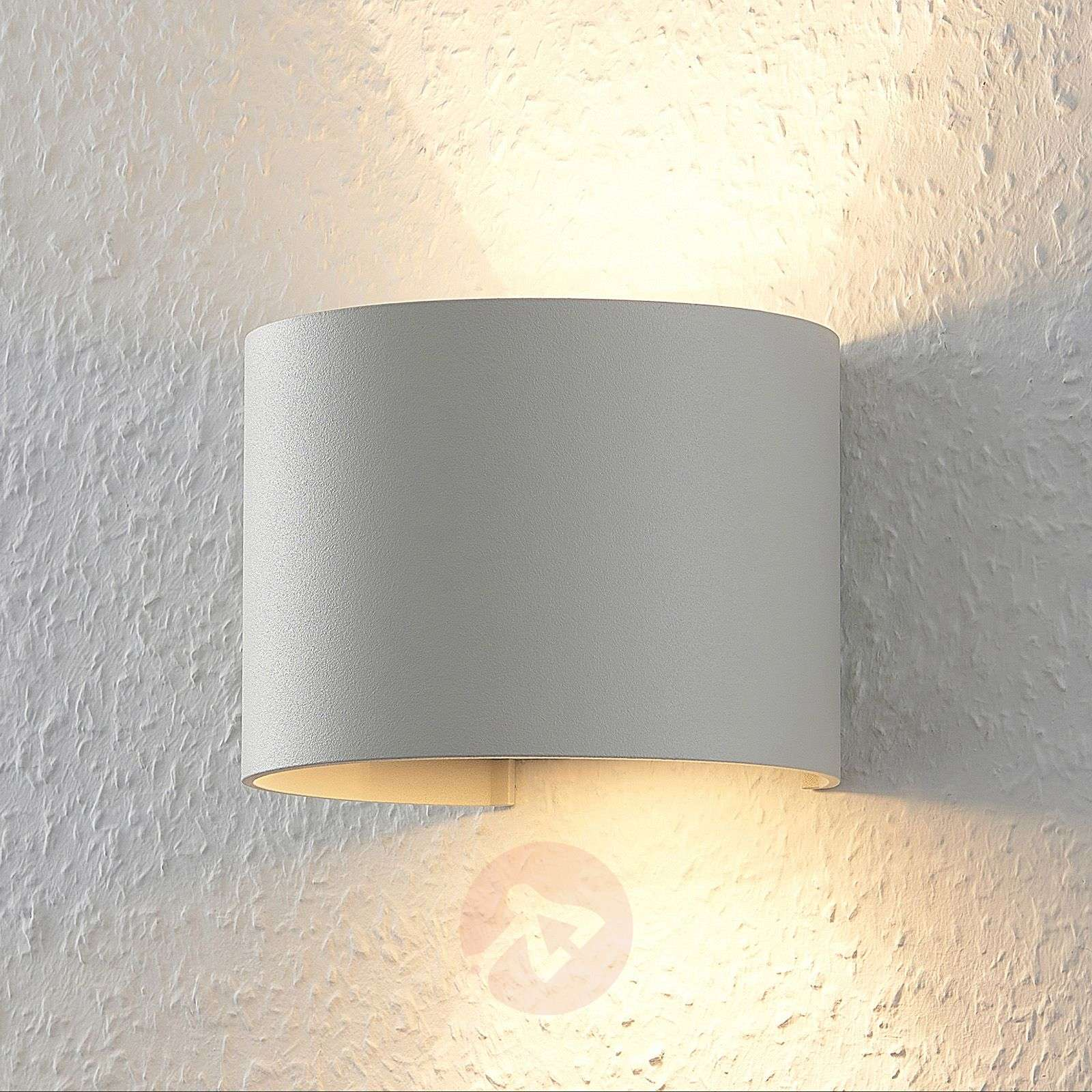 Valkoinen LED-seinävalaisin Zuzana, pyöreä