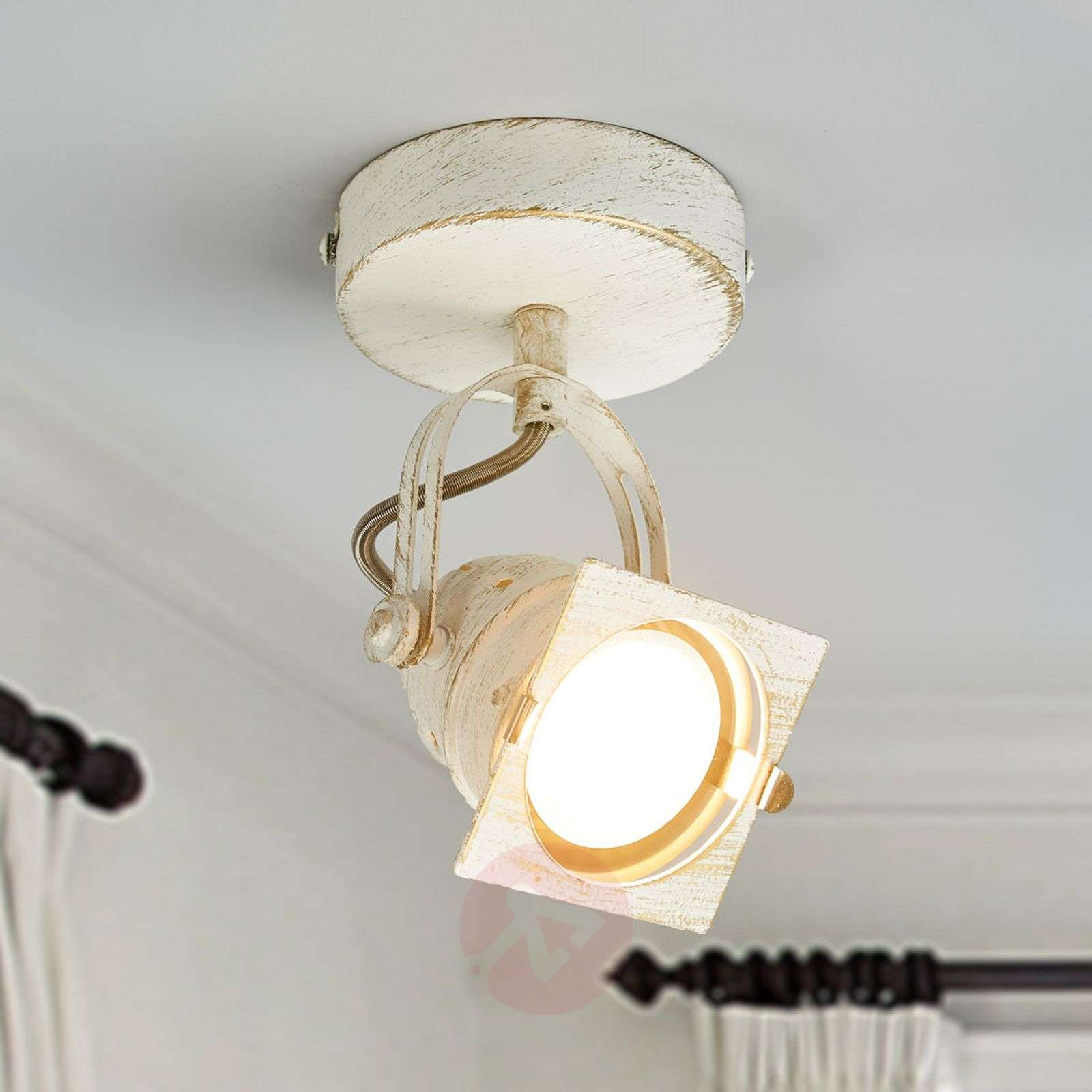 Valkoinen LED-spottivalo Janek GU10-lampulla-9639082-01
