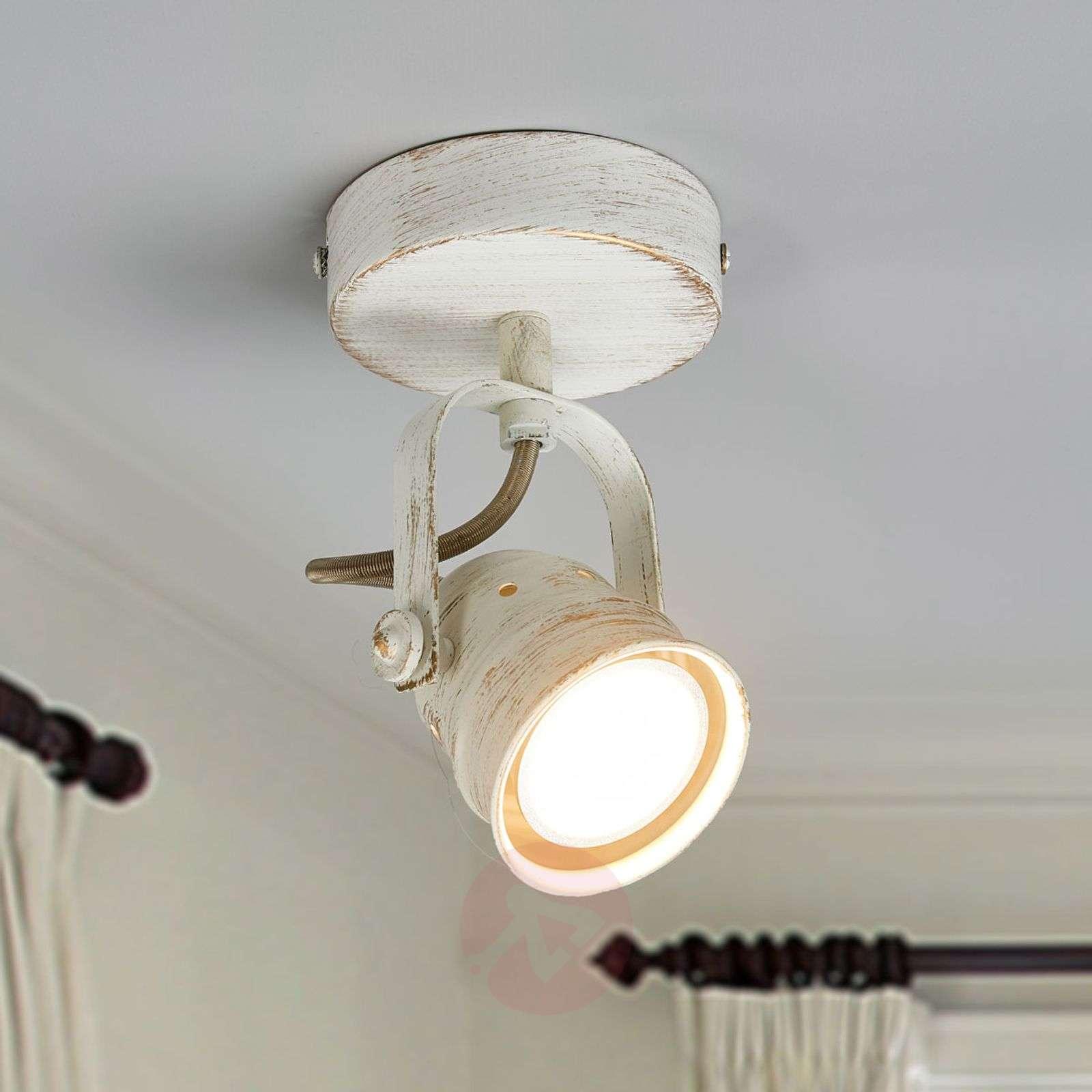Valkoinen LED-spottivalo Leonor GU10-lampulla