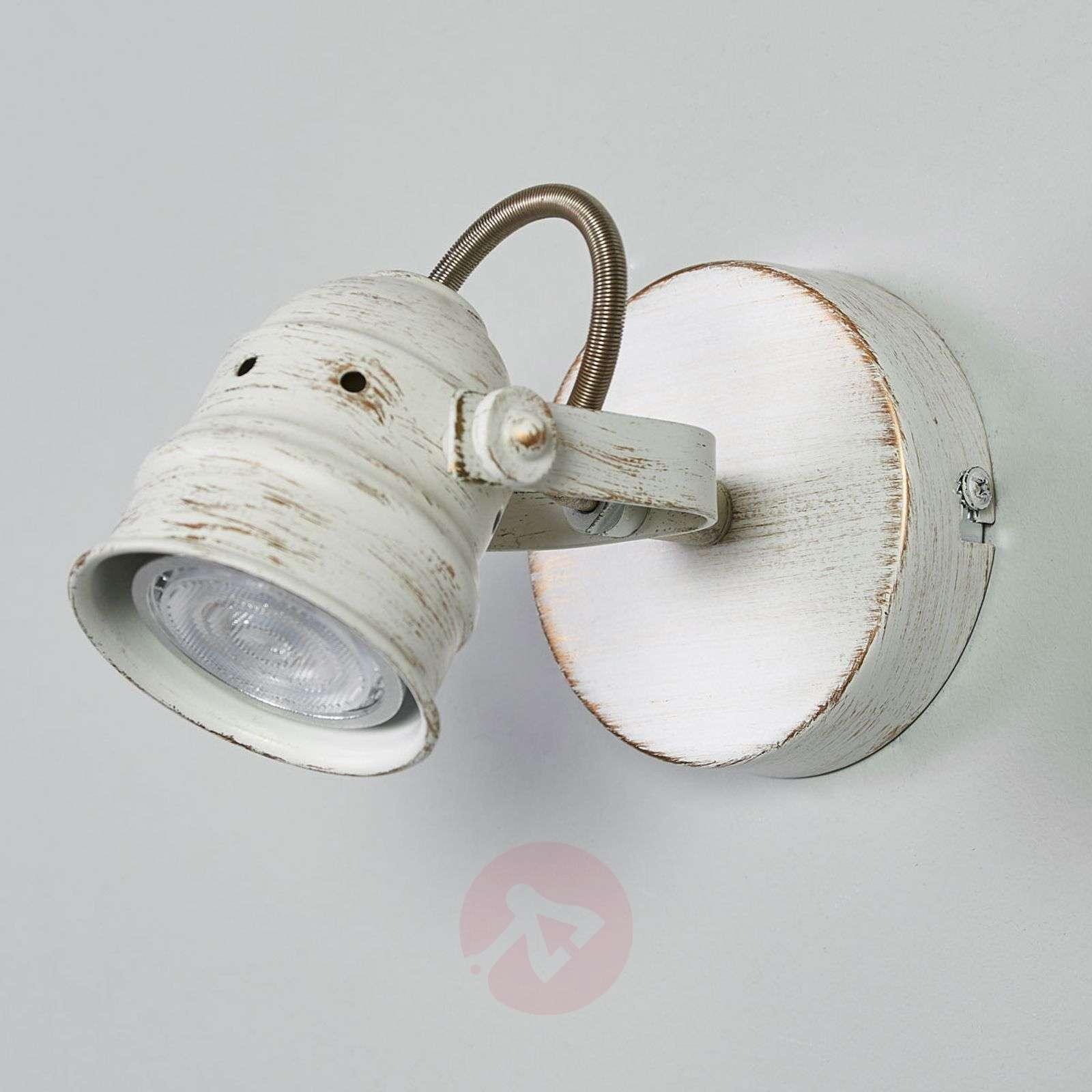 Valkoinen LED-spottivalo Leonor GU10-lampulla-9639063-01