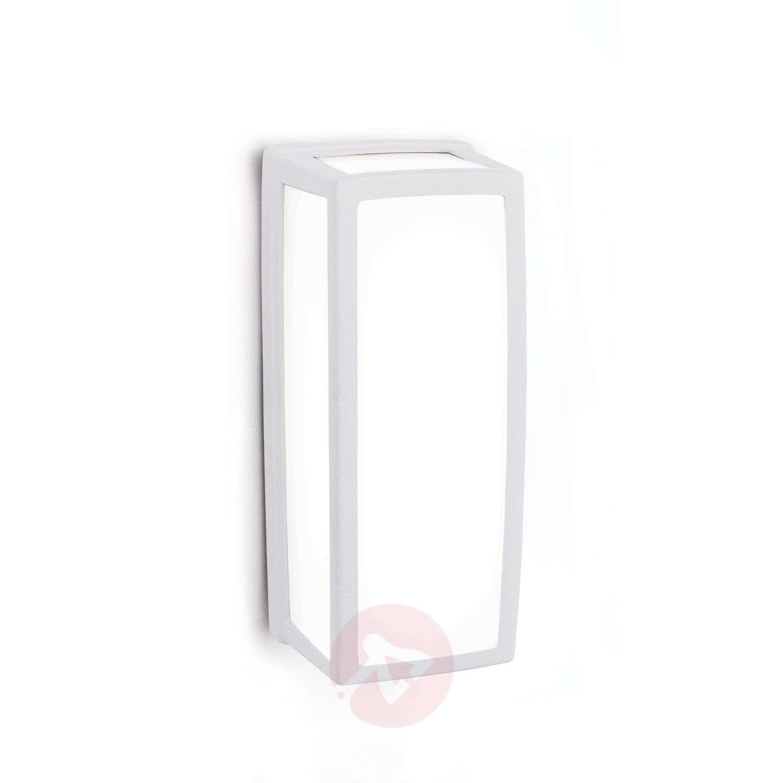 Valkoinen LED-ulkoseinävalaisin Bob IP54 alumiinia-7255348-01