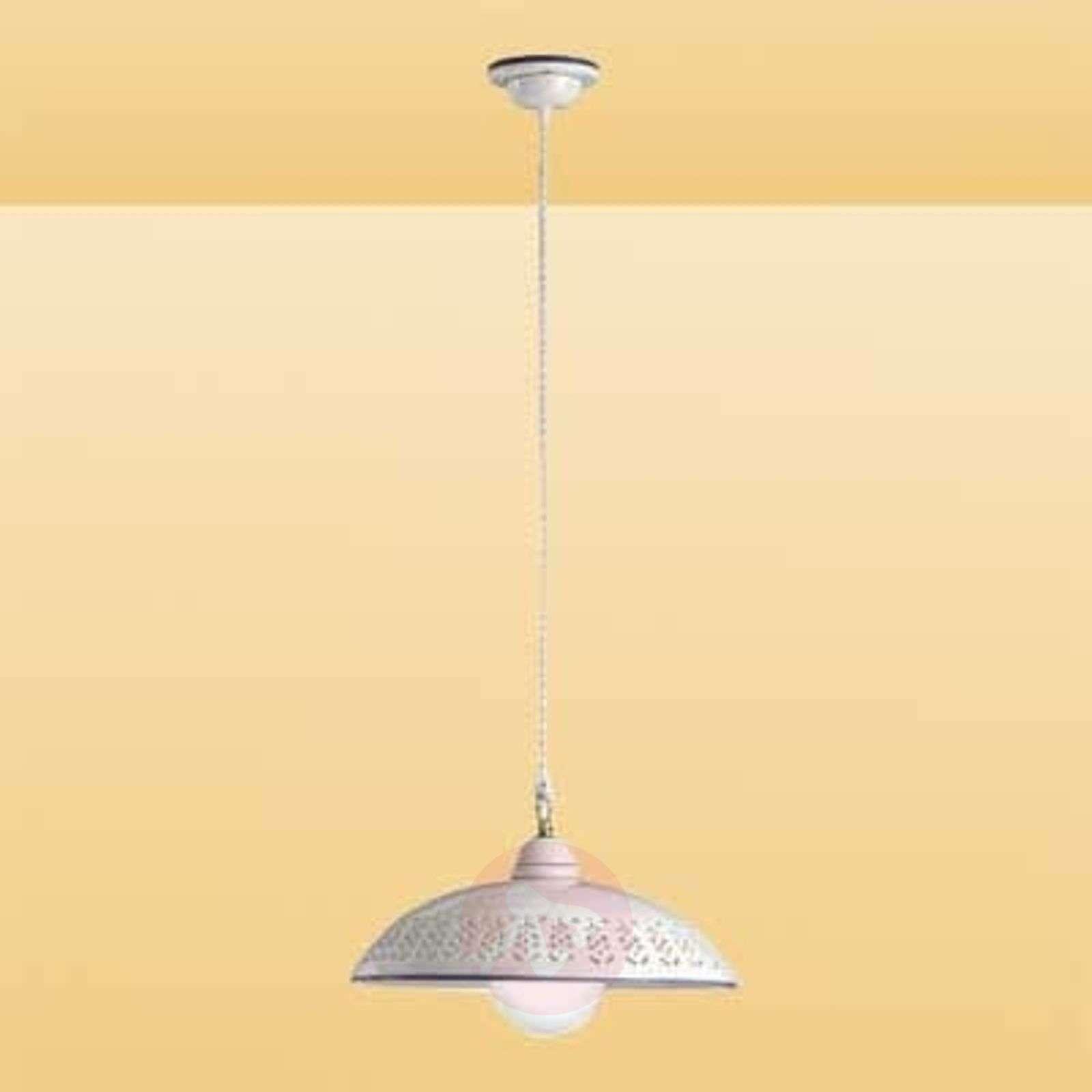 Valkoinen riippuvalaisin Sfilata, keramiikka-2013116-01