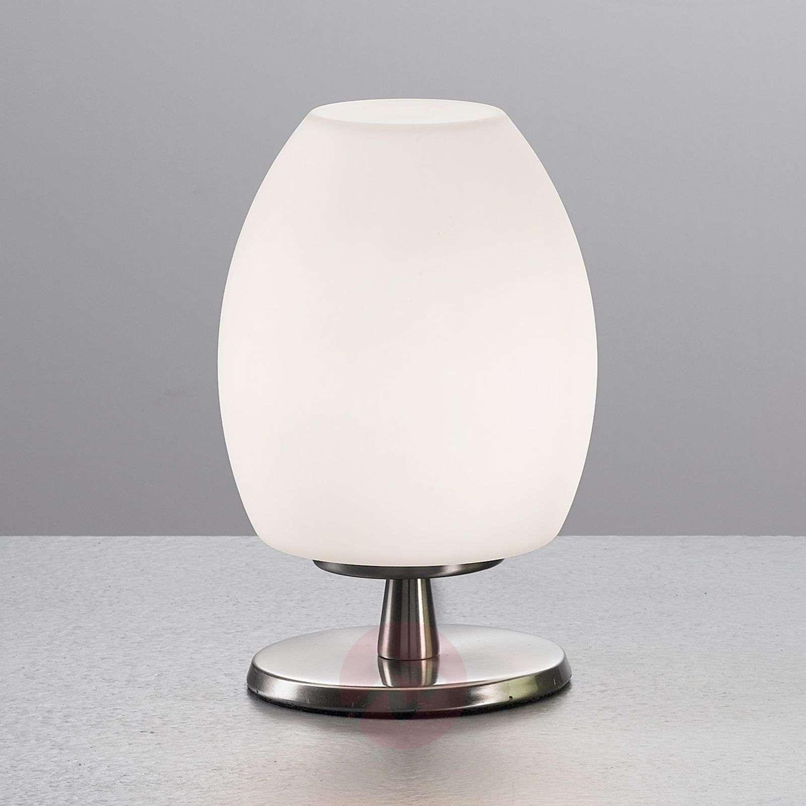 Valkoinen ROCKFORD-pöytävalaisin, 18 cm korkea-3502179-01