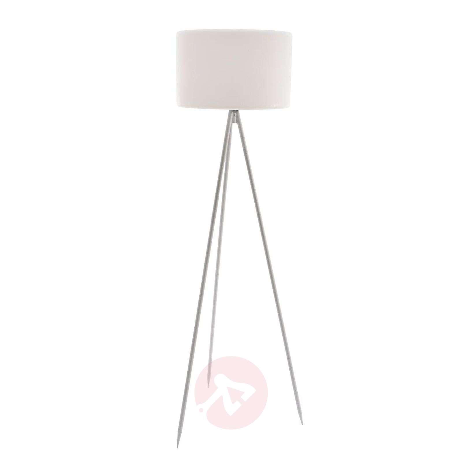 valkoinen runko, lieriövarjostin: Nerea-lattiavalo-5527145-01