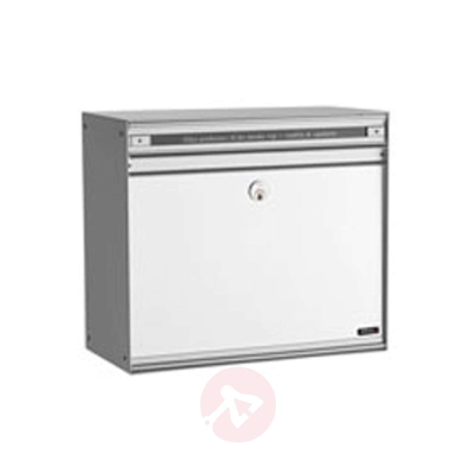 Valkoinen SC200-postilaatikko alumiinietuosalla-1045052-01