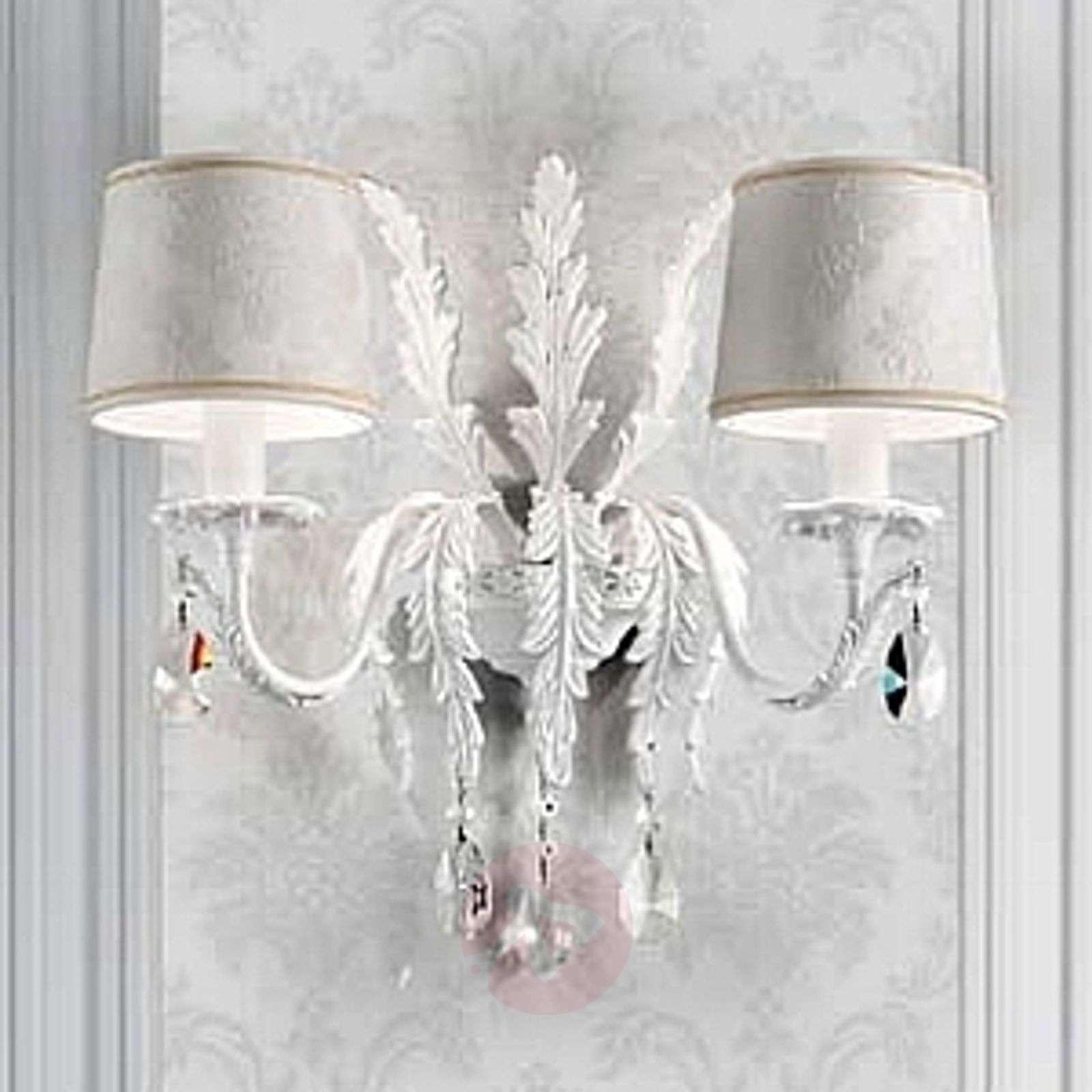 Valkoinen seinävalaisin Angelis, Asfour-kristallit-6517134-01