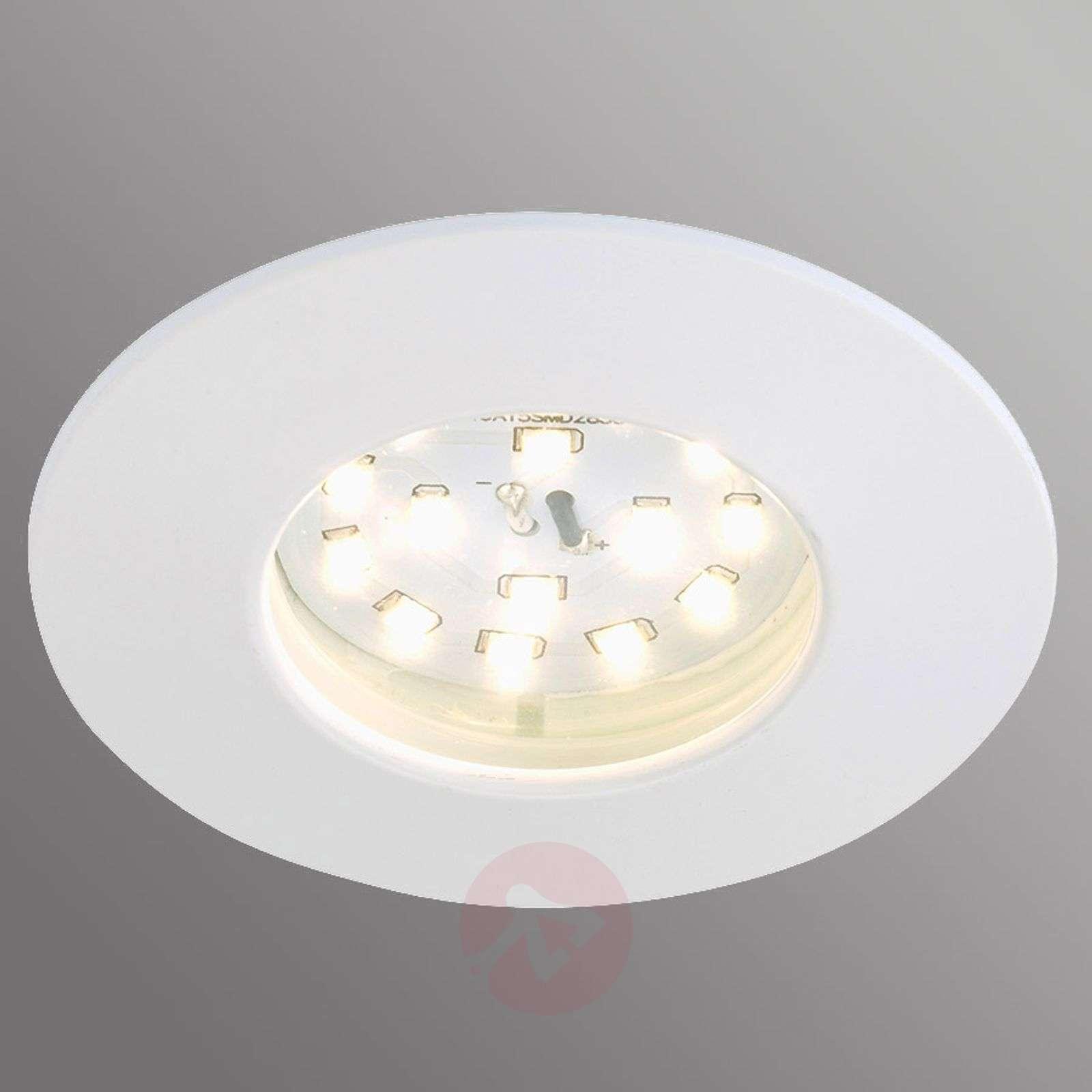 Valkoinen Till-LED-uppovalaisin ulkotiloihin