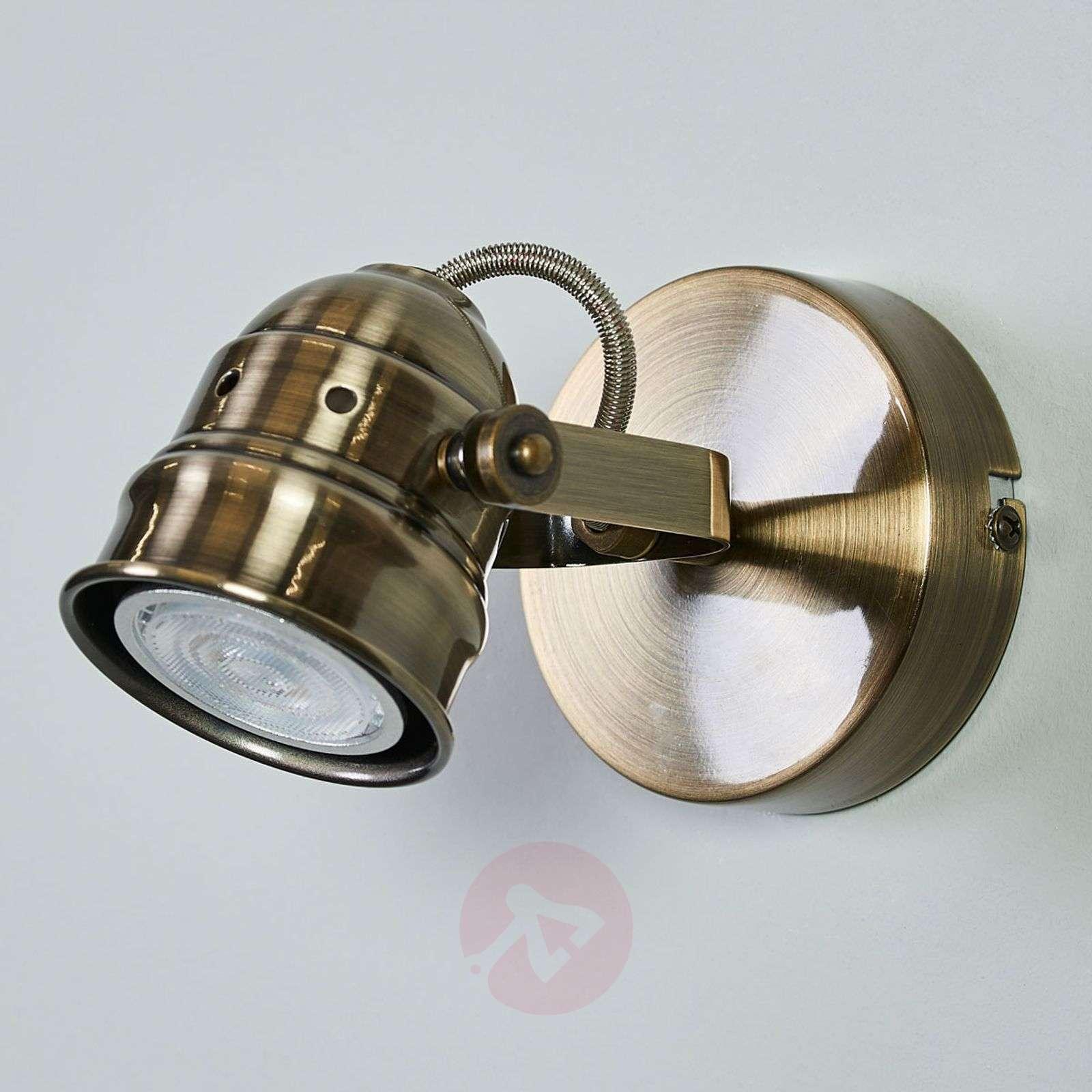 vanhamessingin värinen LED-seinävalo Leonor-9639062-01