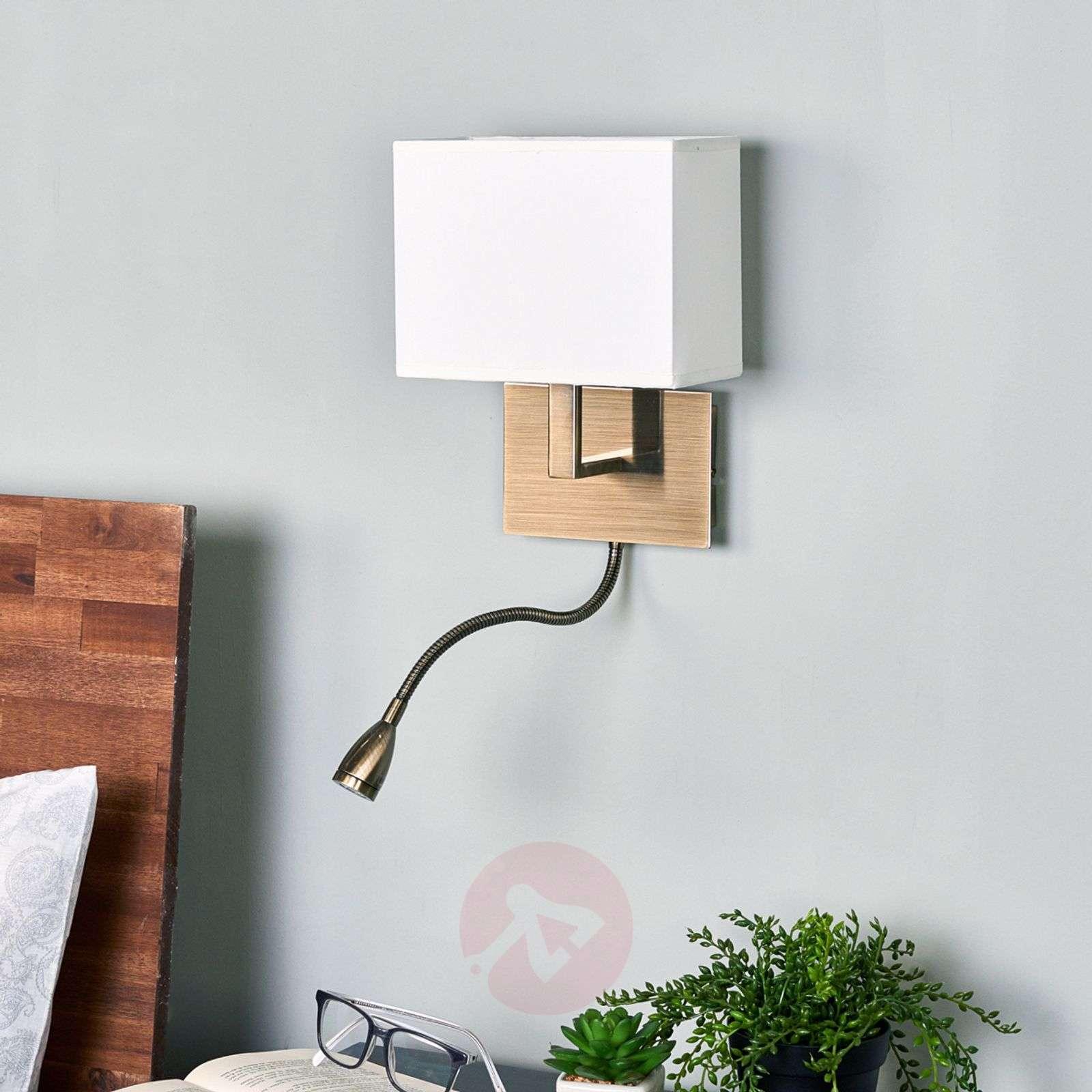 Viehättävä DARIO-seinävalaisin LED-lukulampulla-8570451-013