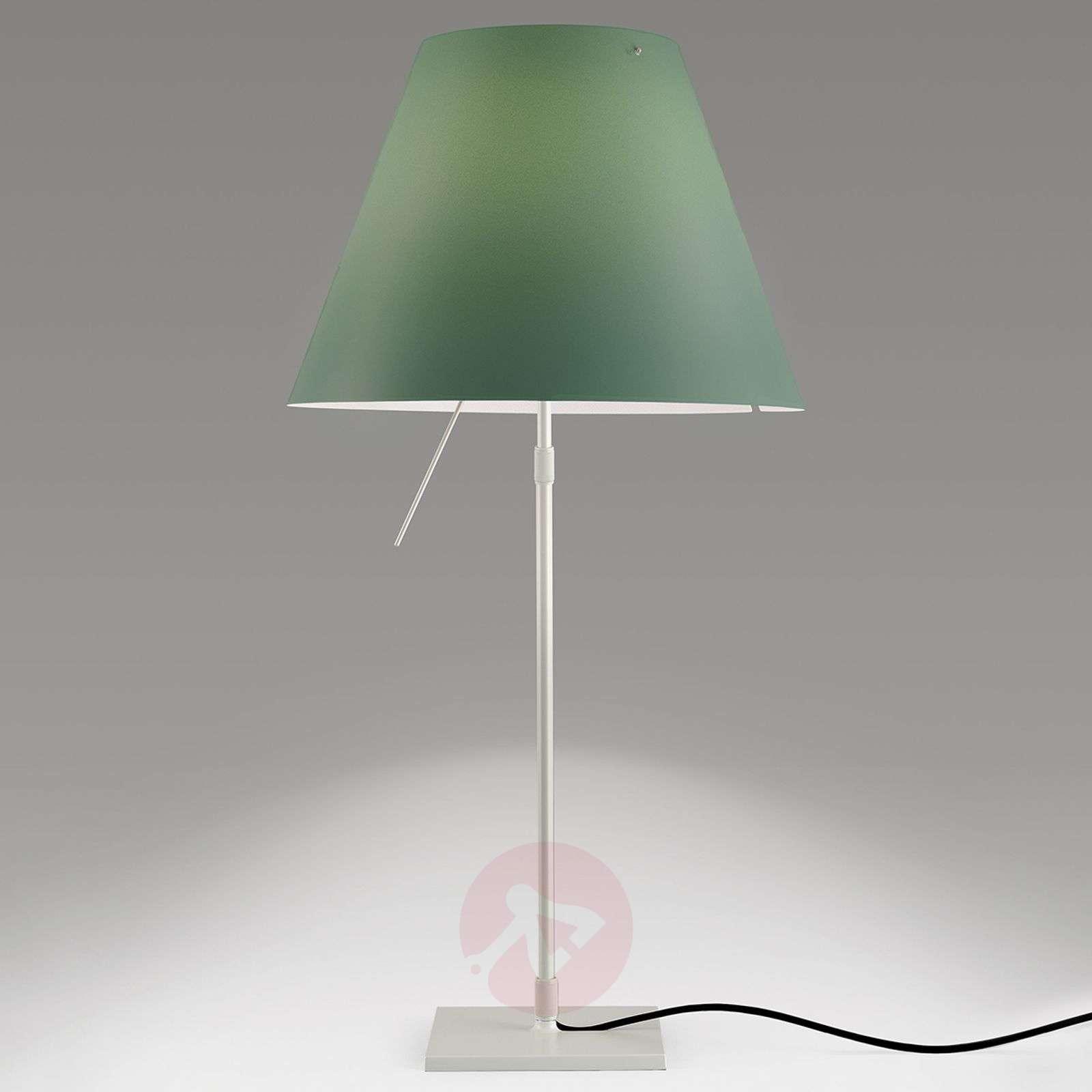 Vihreä LED-pöytävalaisin Costanza korkeussäädöllä-6030161-01