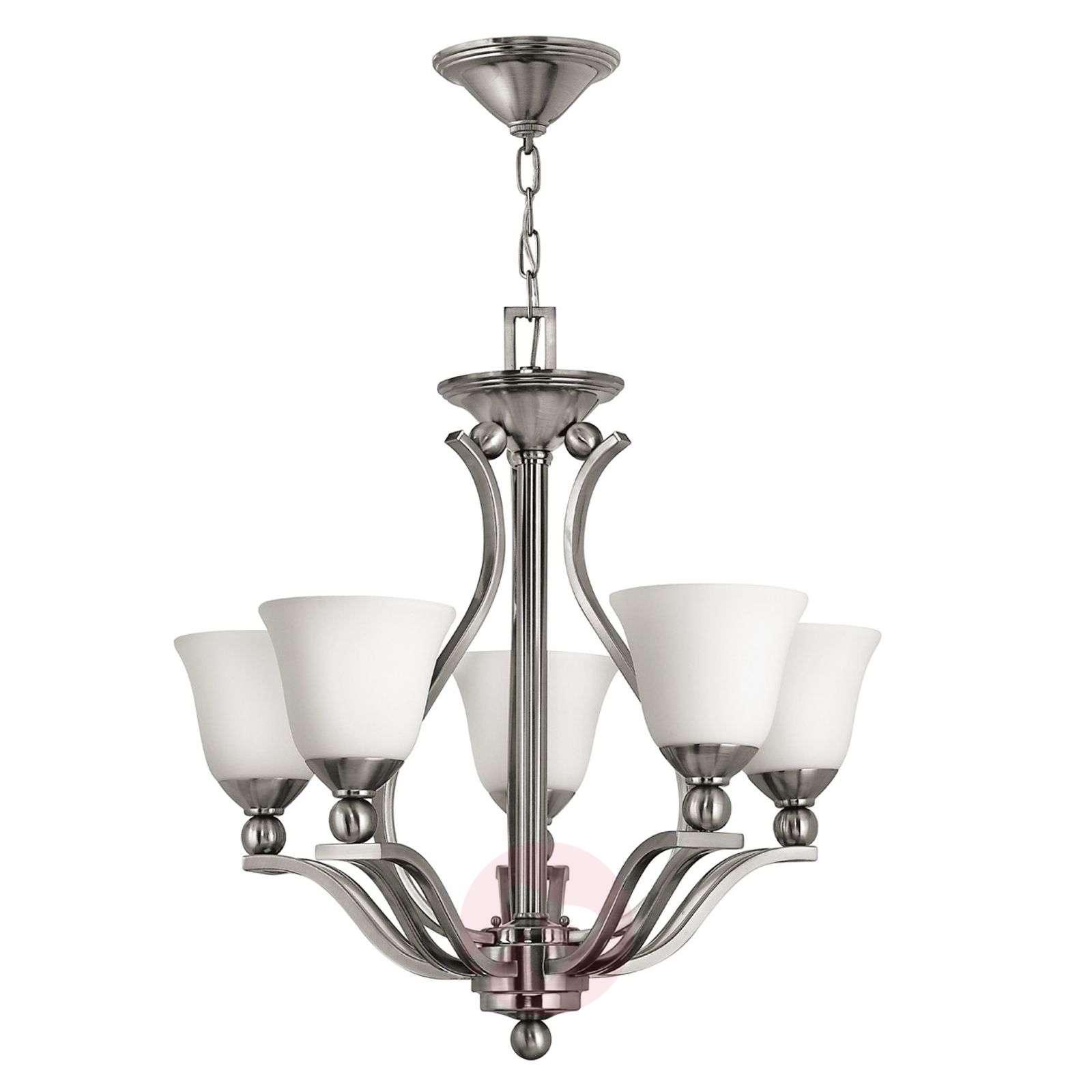 Viiden lampun nikkelinen BOLLA-riippuvalaisin-3048108-01