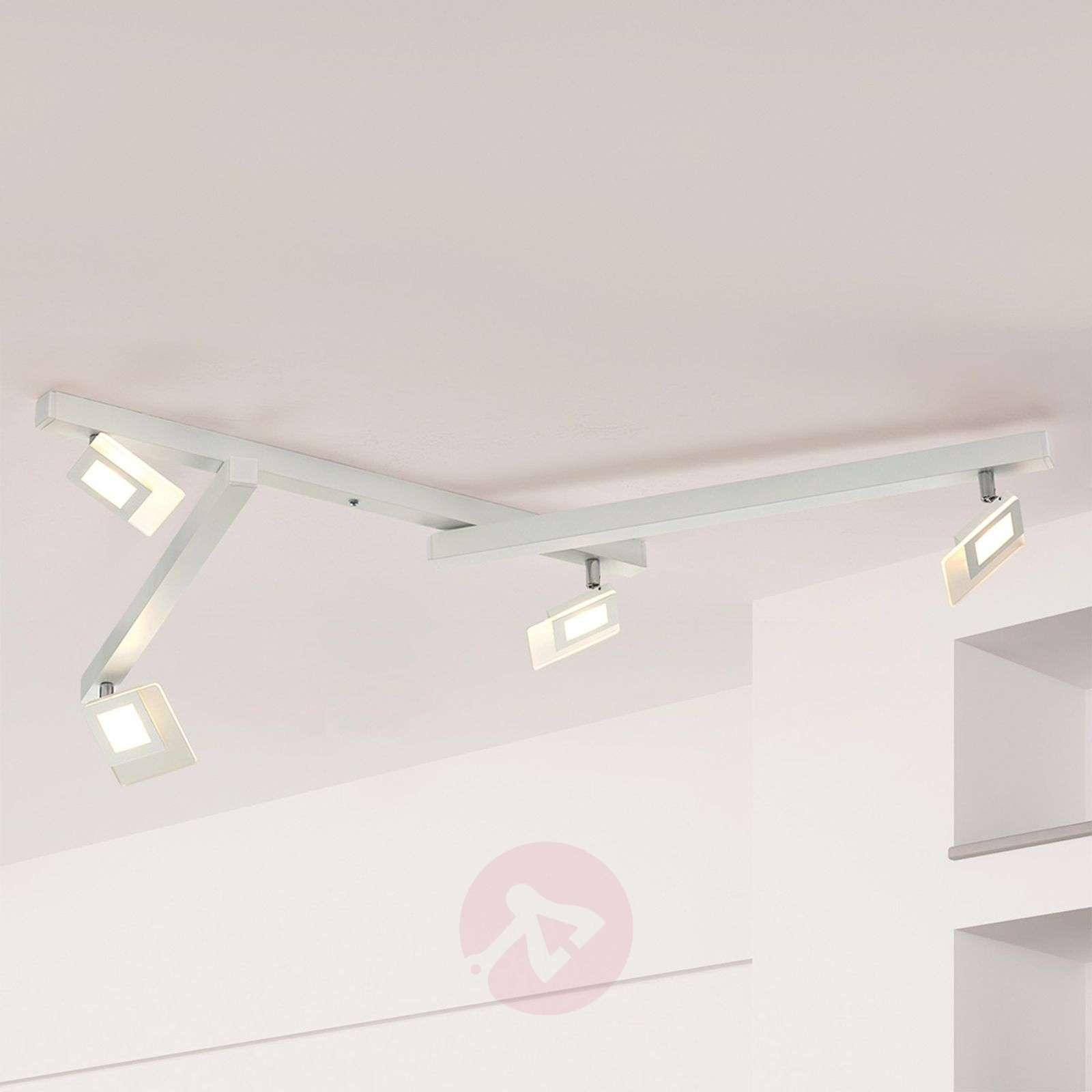 Viisilamppuinen valkoinen LED-kattovalaisin Line-1556069-01