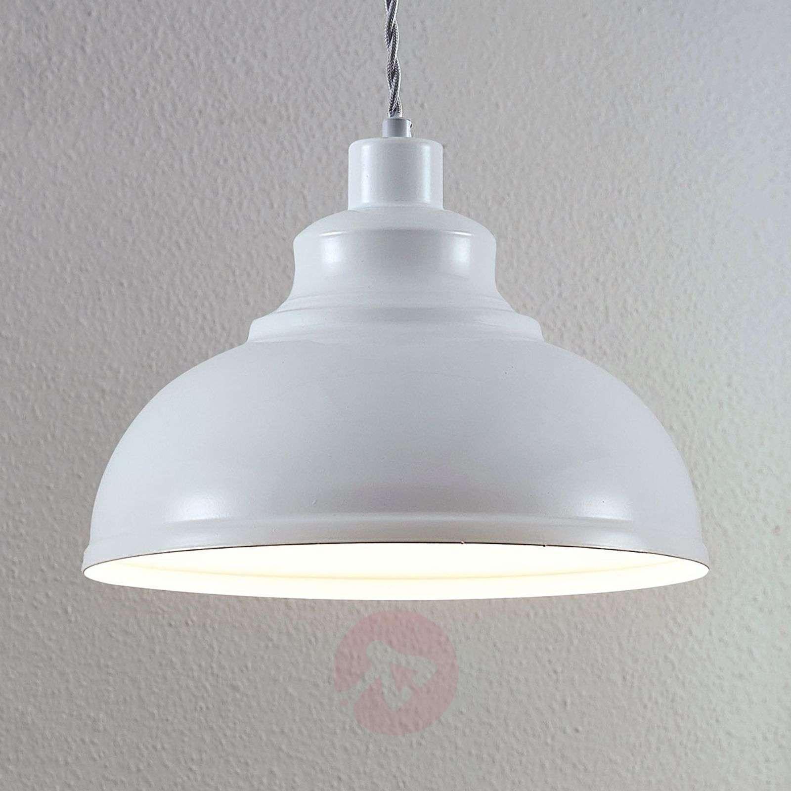 Vintage-riippuvalo Albertine, metalli valkoinen-9624350-01