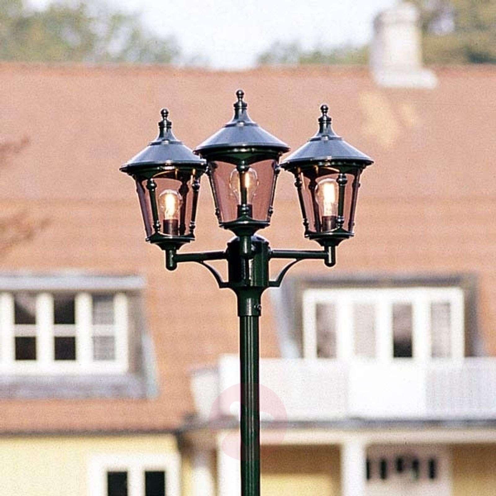 Virgo-pylväsvalaisin, 3-lamppuinen, tummanvihreä