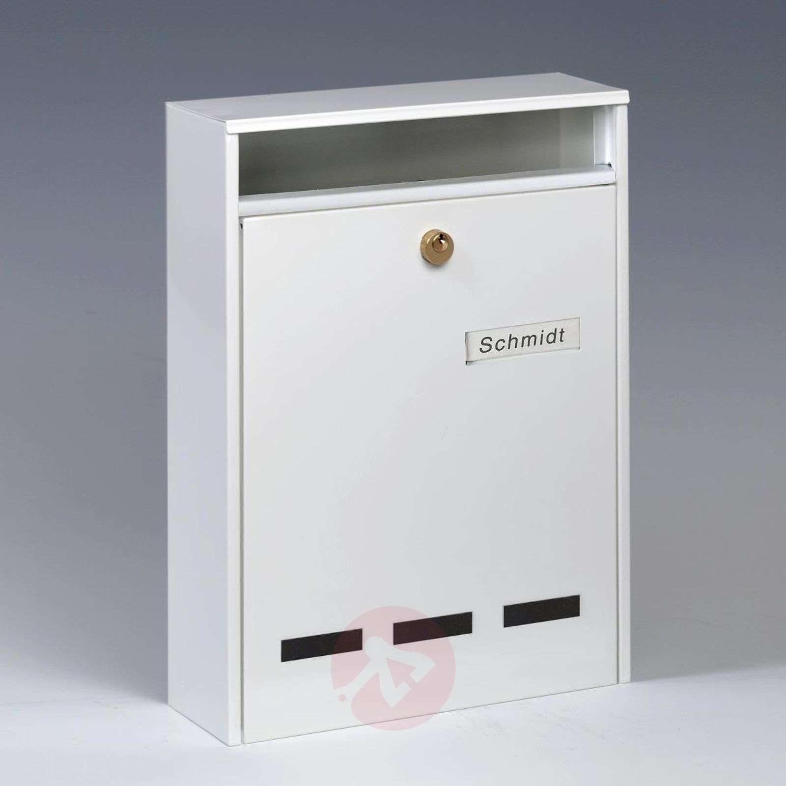 Wismar-ryhmäpostilaatikko tyyppi DIN A4, valkoinen-1532112-01