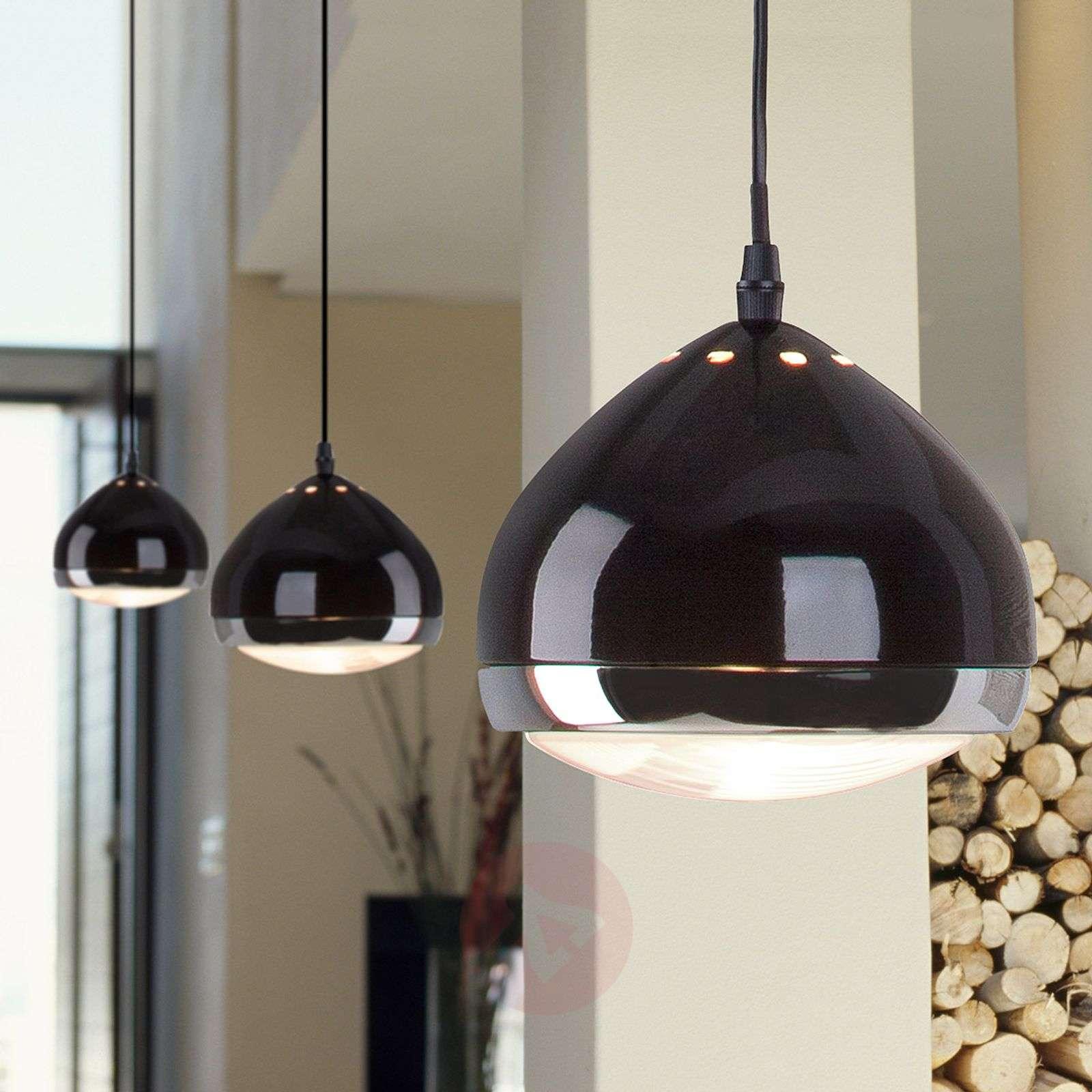 Yksilamppuinen RIDER-riippuvalaisin, musta-1507176-01